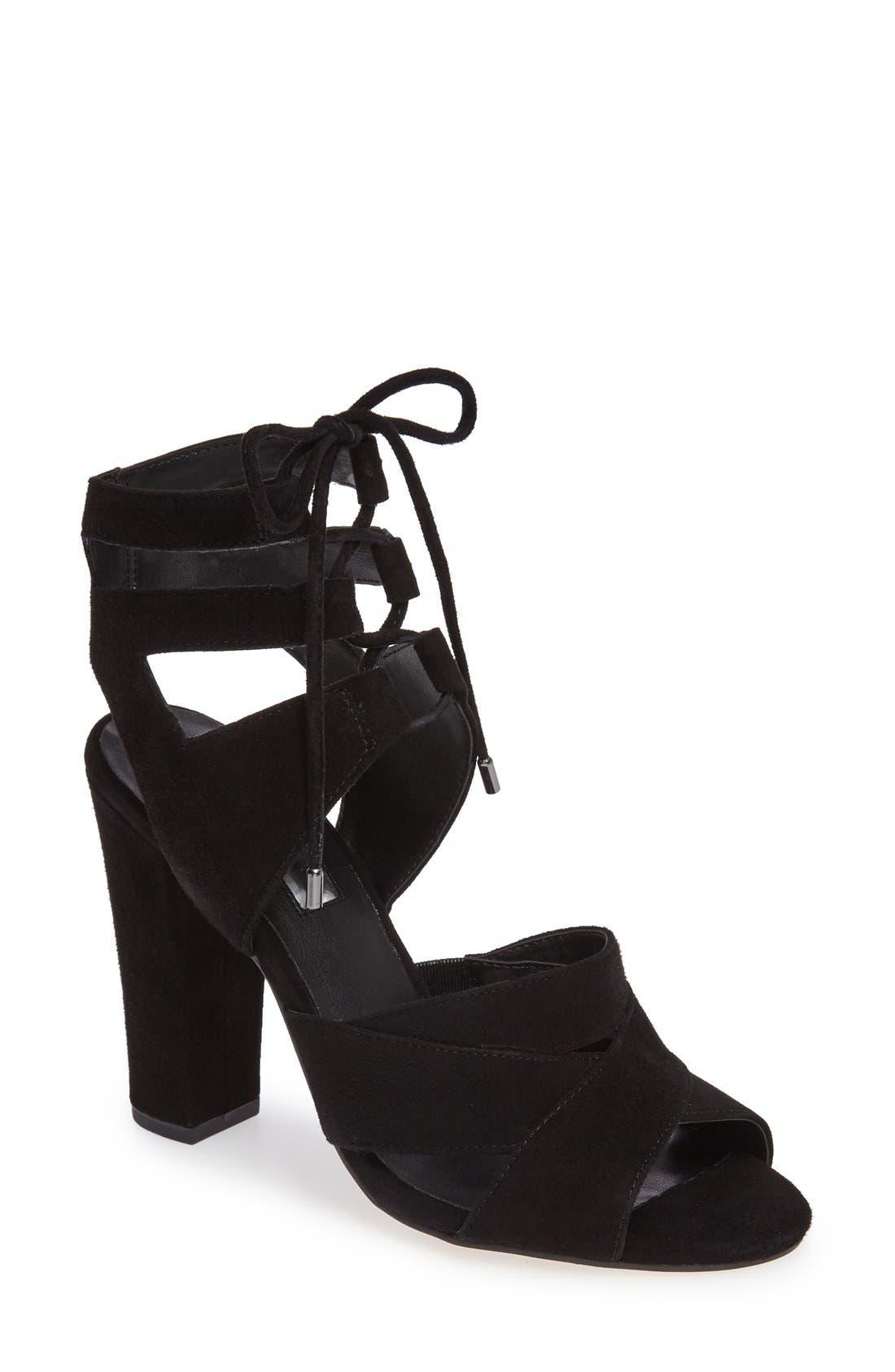 Alternate Image 1 Selected - Halogen® Lani Strappy Lace-Up Sandal (Women)