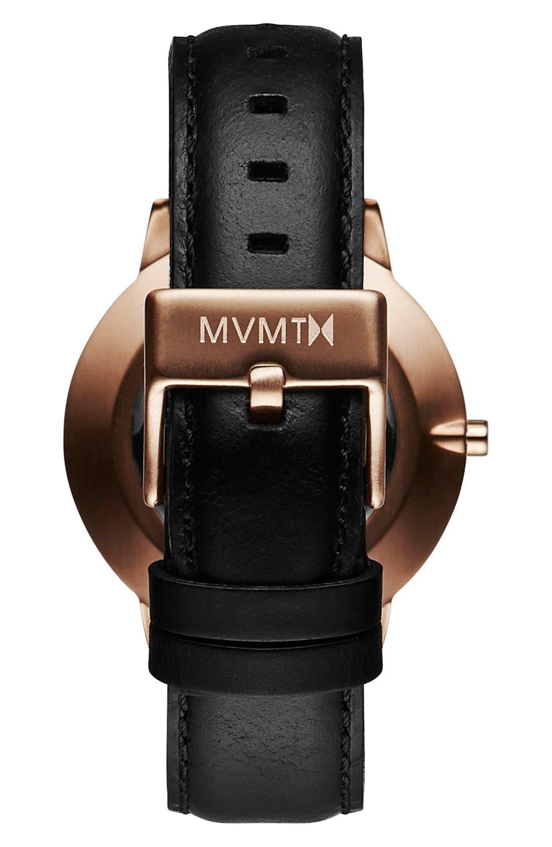Alternate Image 2  - MVMT Boulevard Leather Strap Watch, 38mm