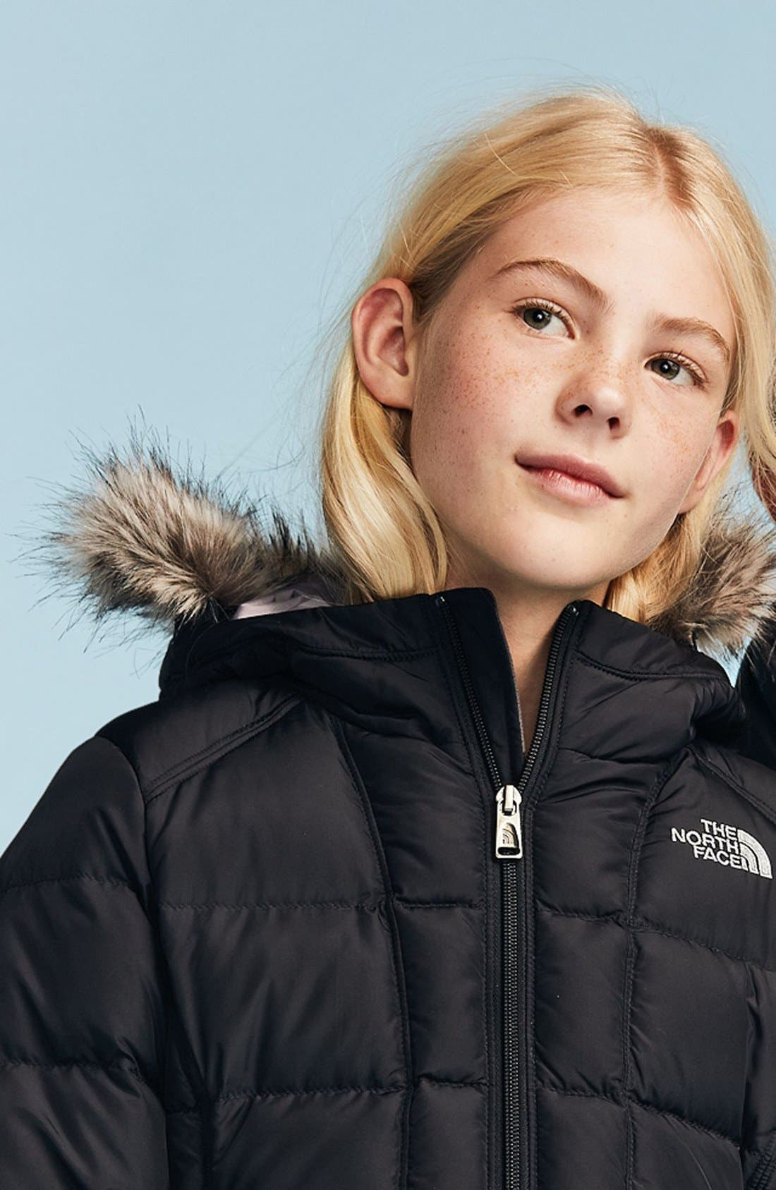 Alternate Image 3  - The North Face 'Gotham' Jacket (Little Girls & Big Girls)