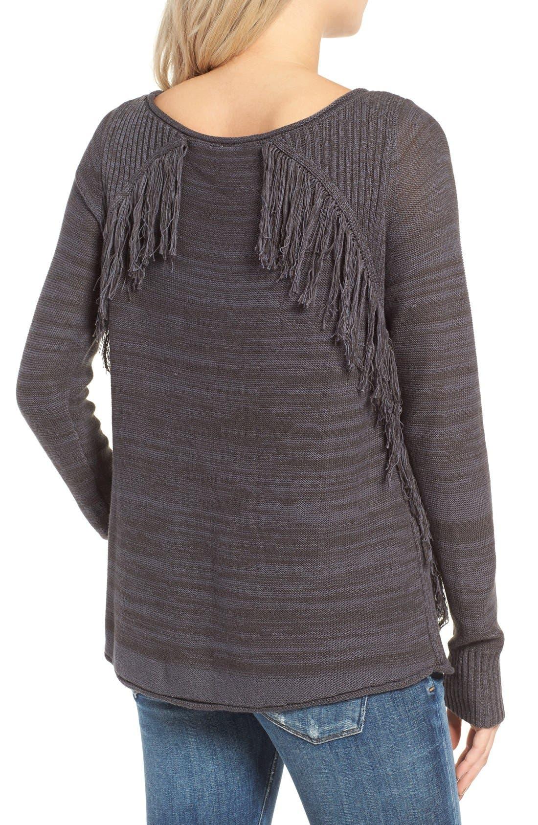 Alternate Image 2  - Rip Curl Hudson Fringe Knit Pullover