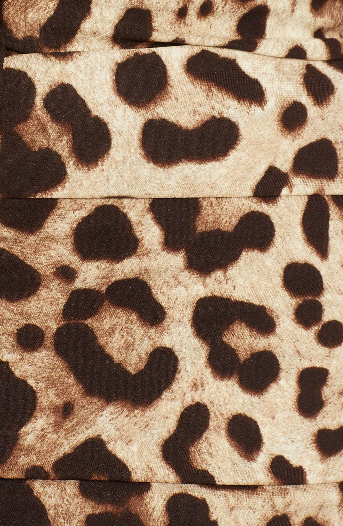 Alternate Image 3  - Dolce&Gabbana Stretch Cady Leopard Print Ruched Dress