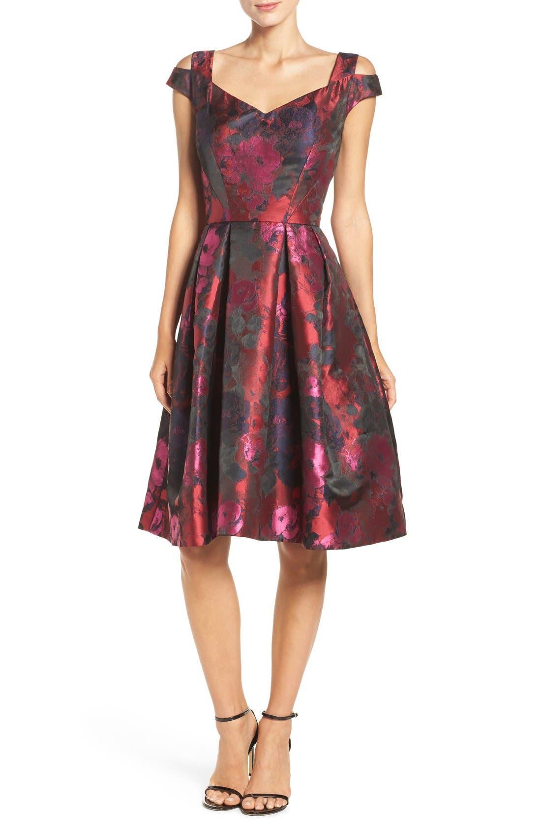 Main Image - Maggy London Cold Shoulder Dress (Regular & Petite)