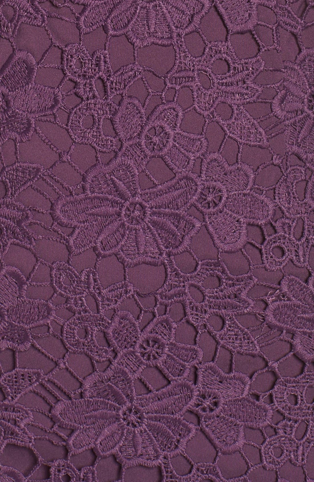 Alternate Image 5  - Donna Morgan Lace Sheath Dress (Regular & Petite)