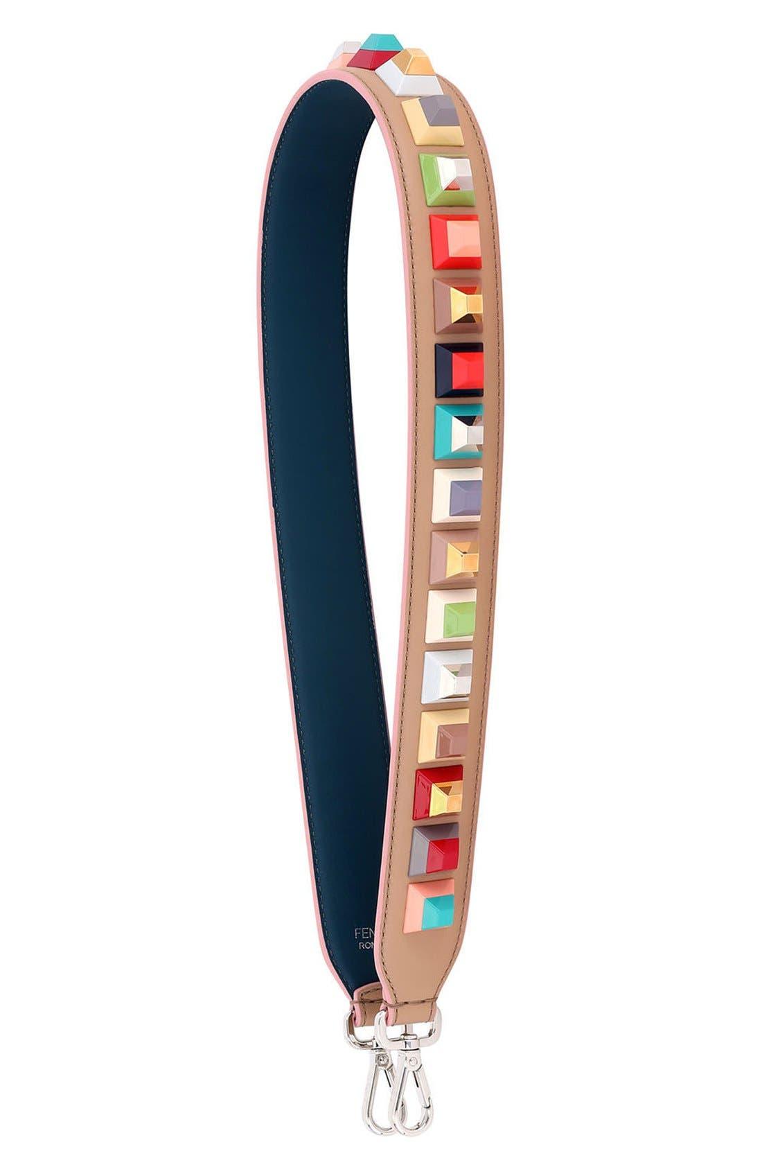 Main Image - Fendi Strap You Multi Rainbow Stud Leather Guitar Bag Strap