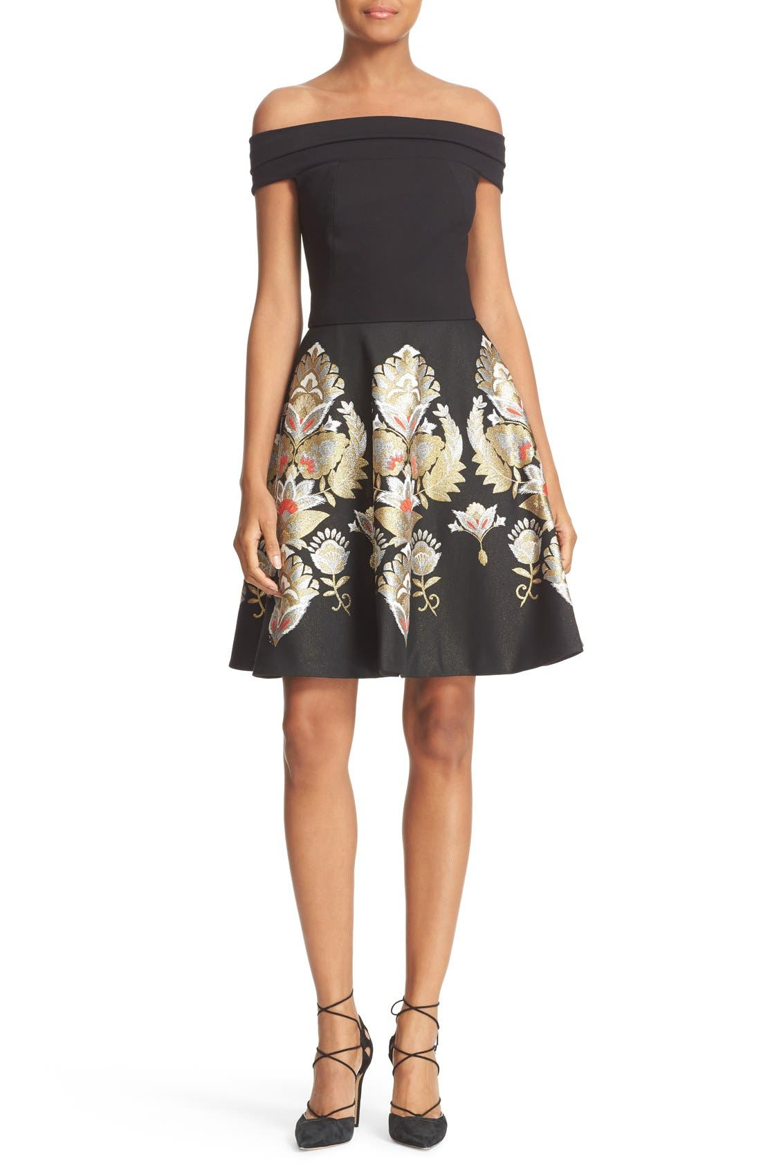 Alternate Image 1 Selected - Ted Baker London Airlo Opulent Orient Fit & Flare Dress