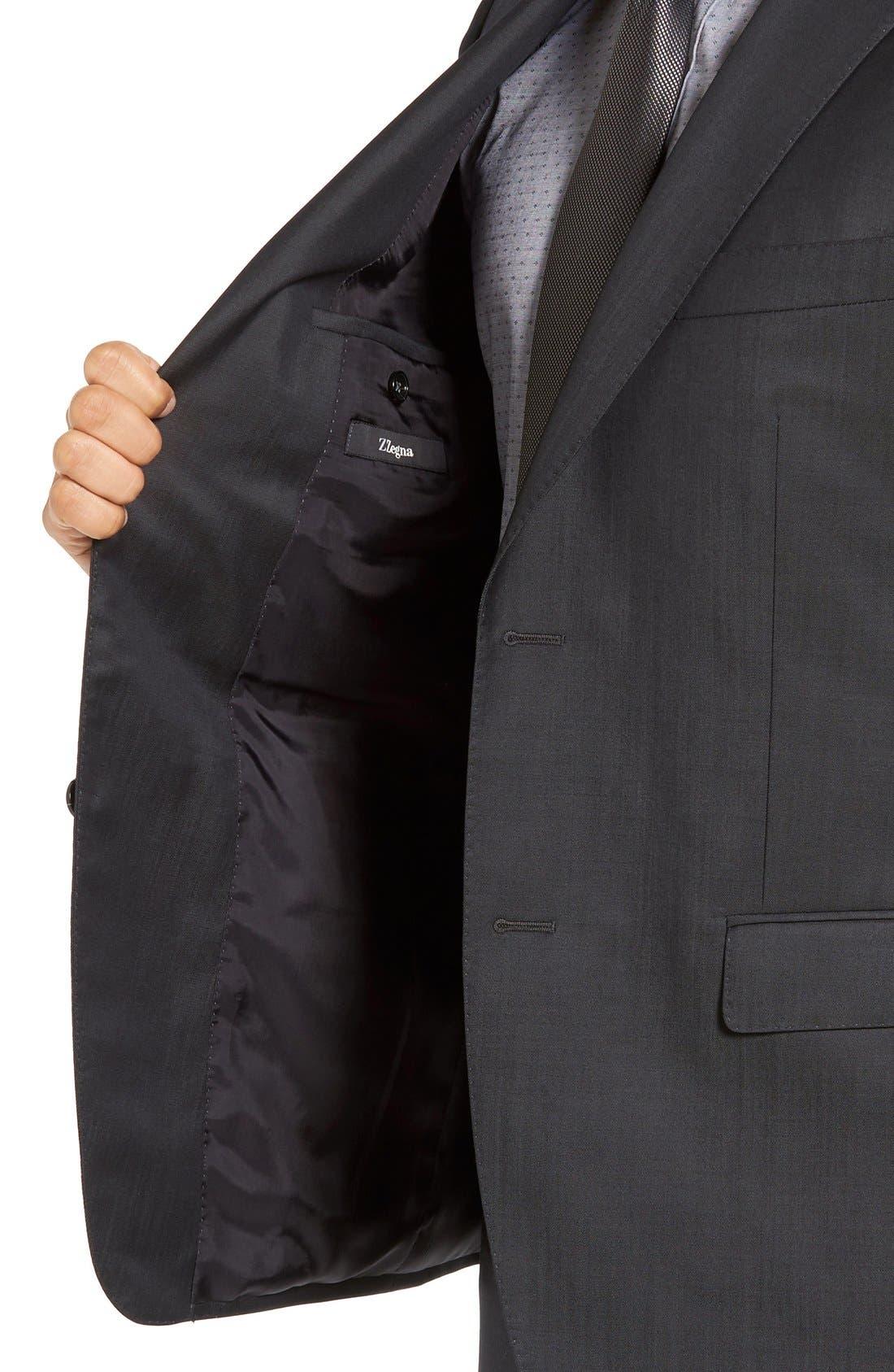 Alternate Image 4  - Z Zegna Trim Fit Solid Wool Suit