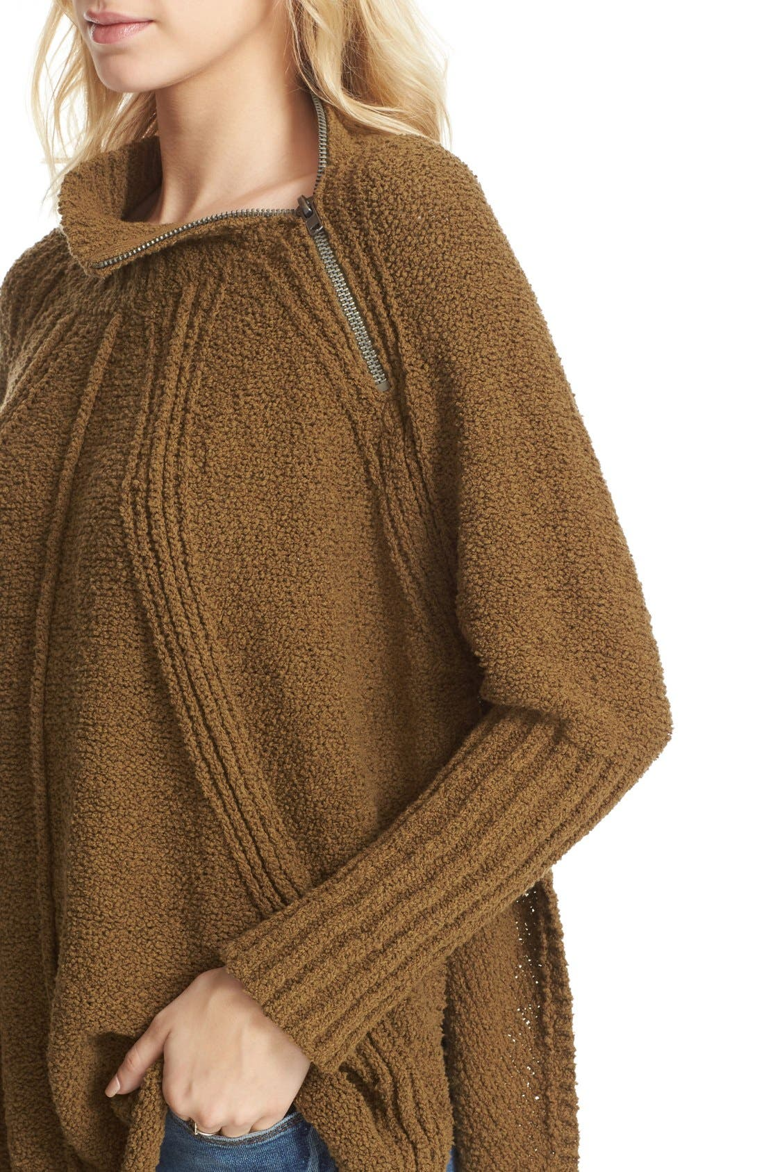 Alternate Image 4  - Free People Spin Around Poncho Sweater