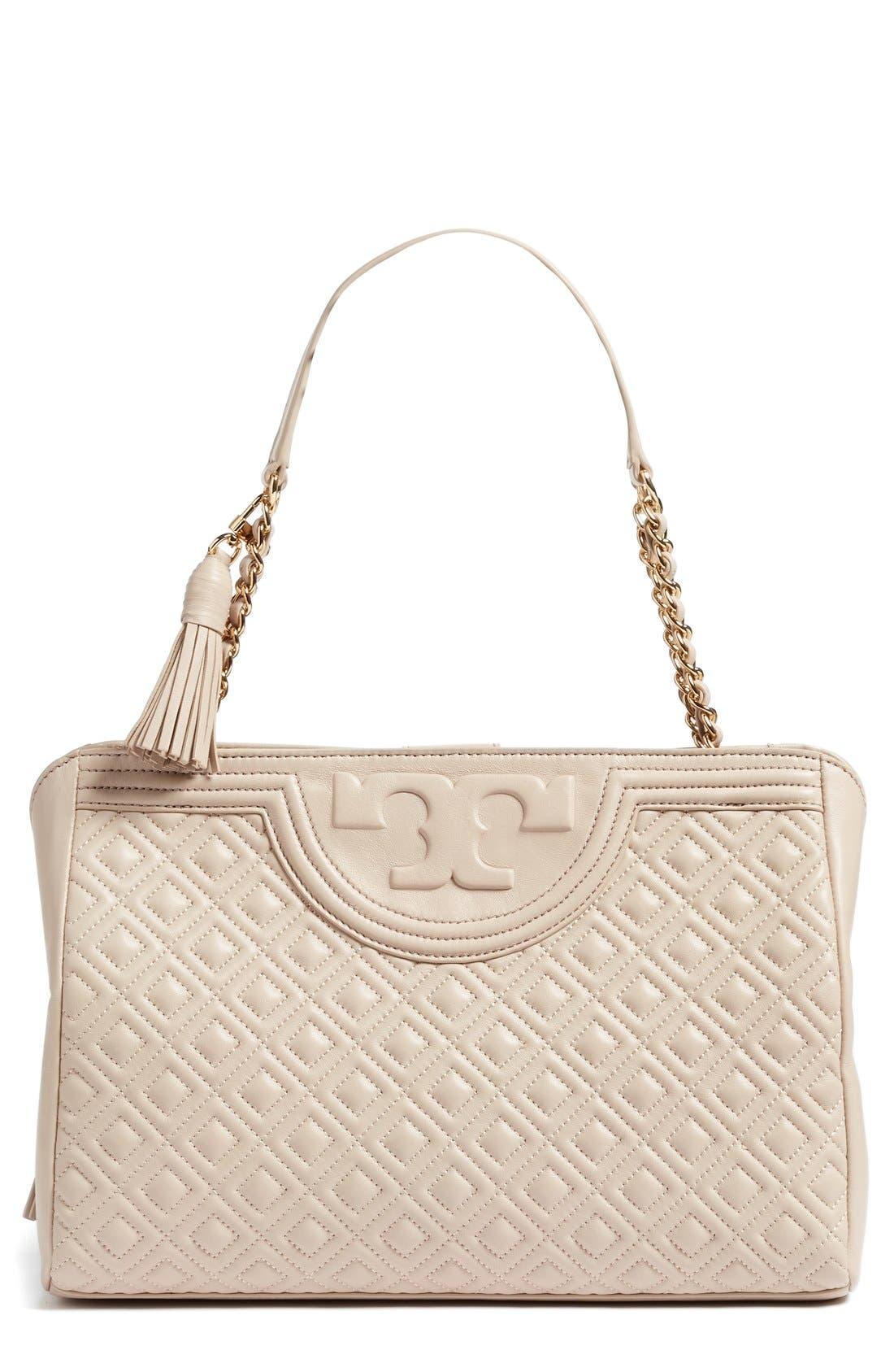 Alternate Image 1 Selected - Tory Burch Fleming Leather Shoulder Bag