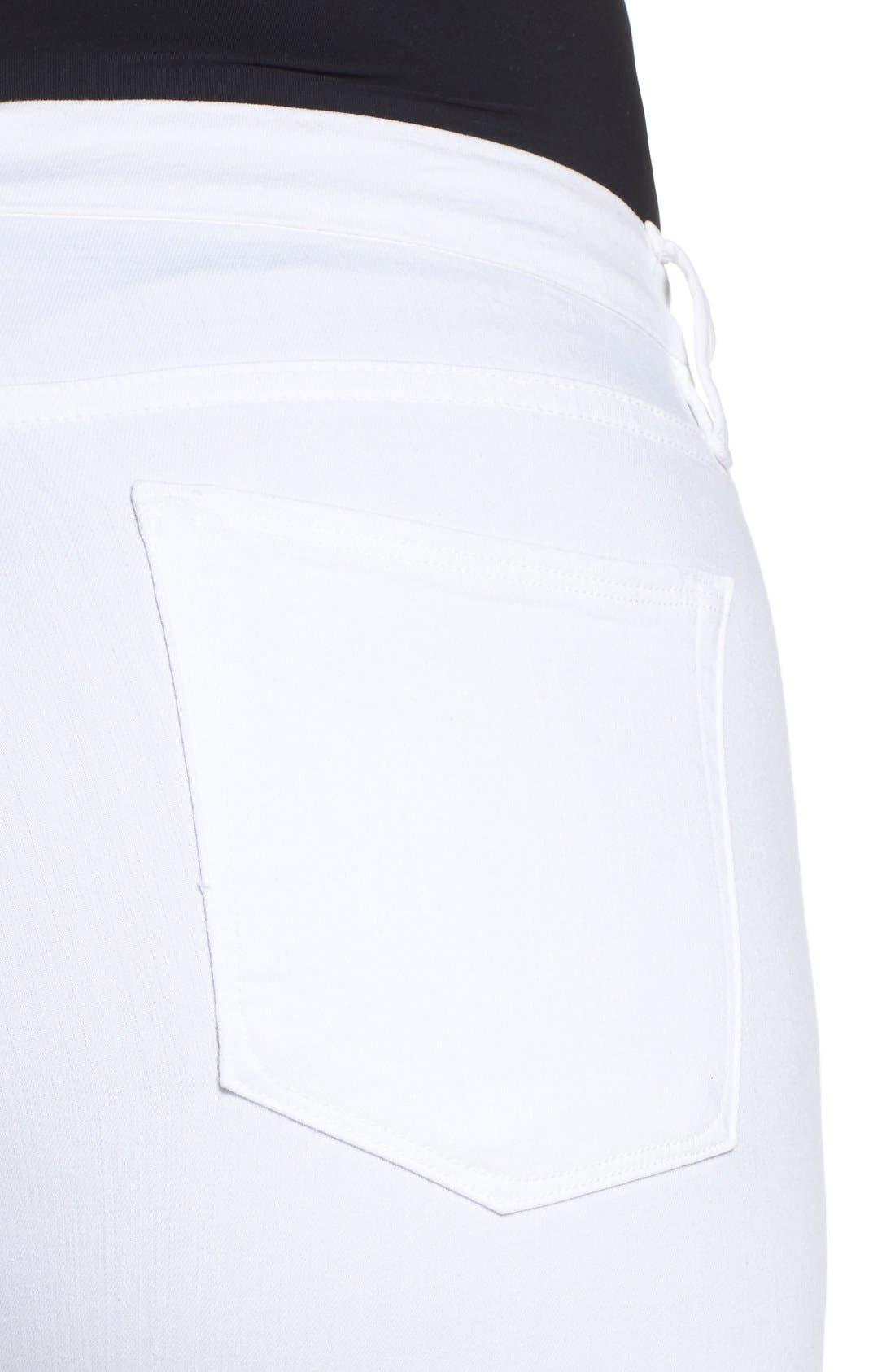 Alternate Image 8  - Good American Good Legs High Rise Skinny Jeans (White 001) (Extended Sizes)