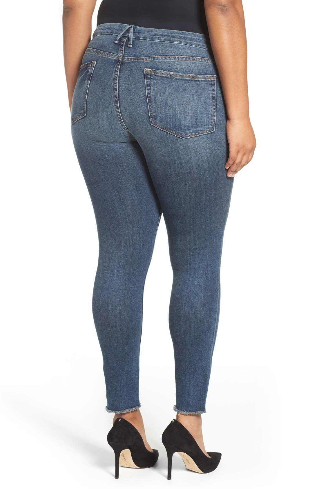 Alternate Image 6  - Good American Good Legs High Rise Skinny Jeans (Blue 005)