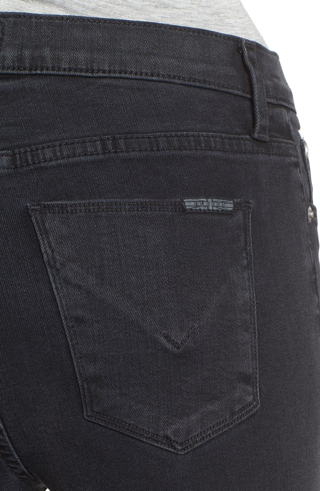 Alternate Image 4  - Hudson Jeans Barbara High Waist Super Skinny Jeans (Bazooka)