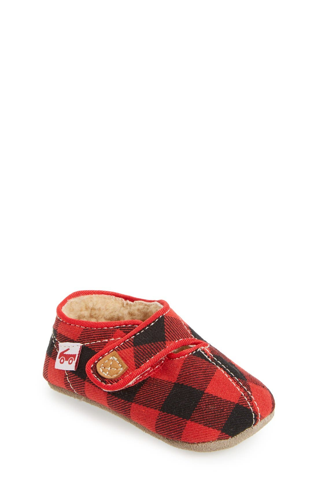 See Kai Run Cruz Buffalo Plaid Crib Slipper (Baby)