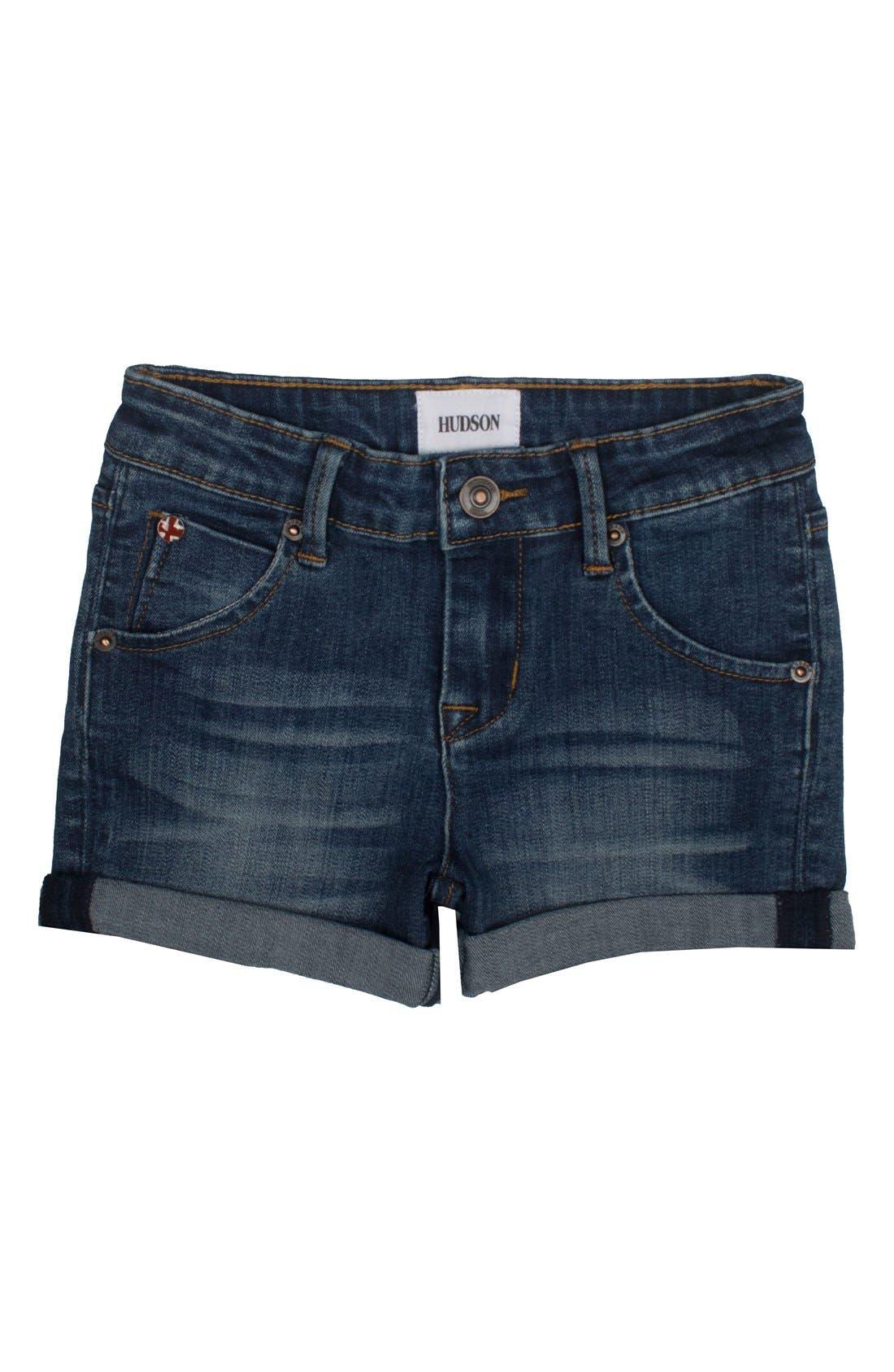 Hudson Kids Roll Cuff Jean Shorts (Big Girls)