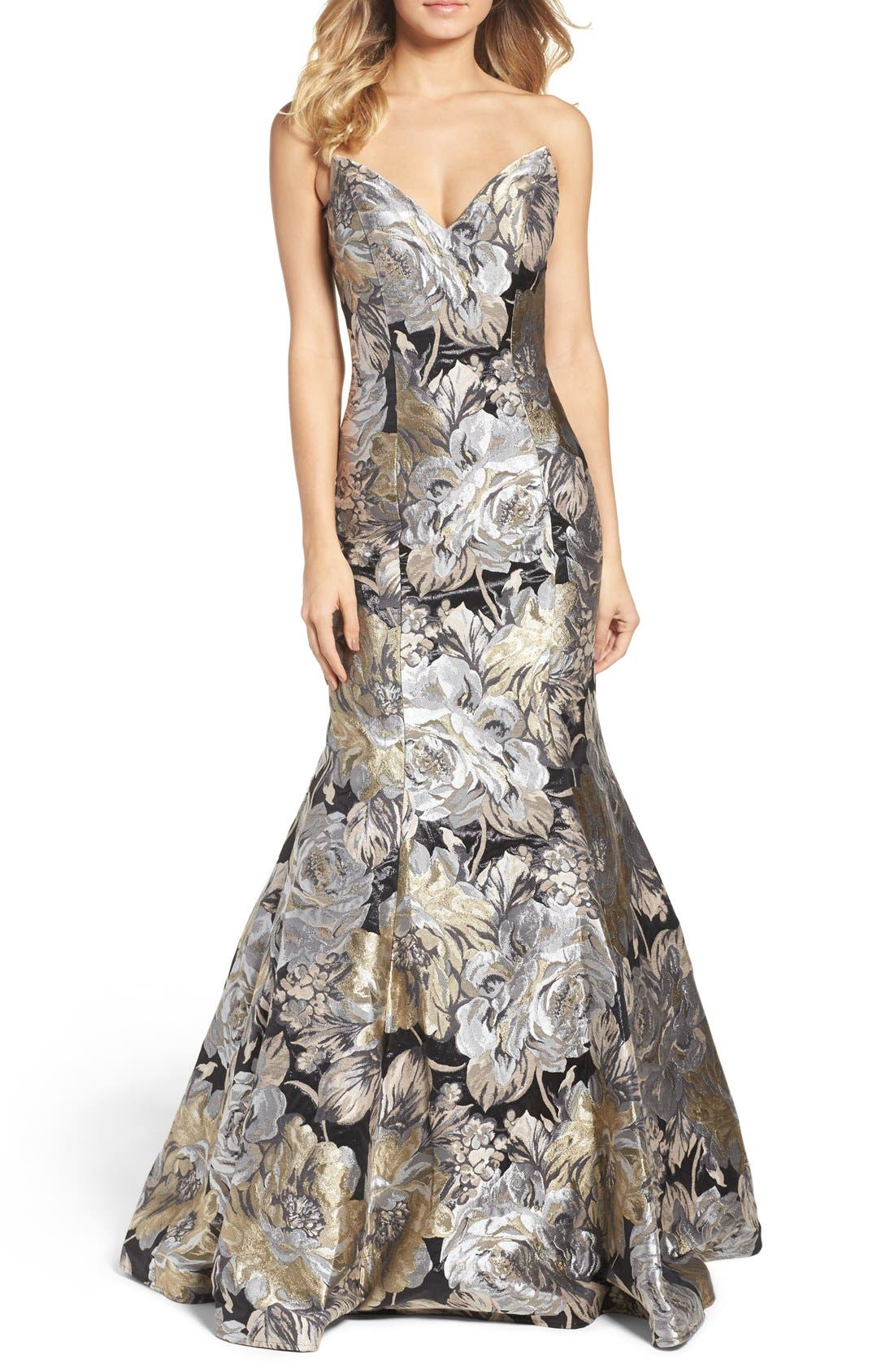 Alternate Image 1 Selected - Jovani Metallic Mermaid Gown