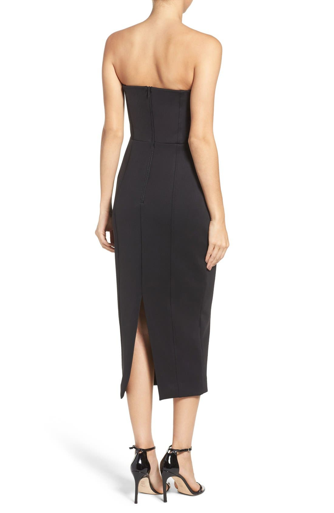 Alternate Image 2  - Misha Collection Gabrielle Midi Dress (Nordstrom Exclusive)
