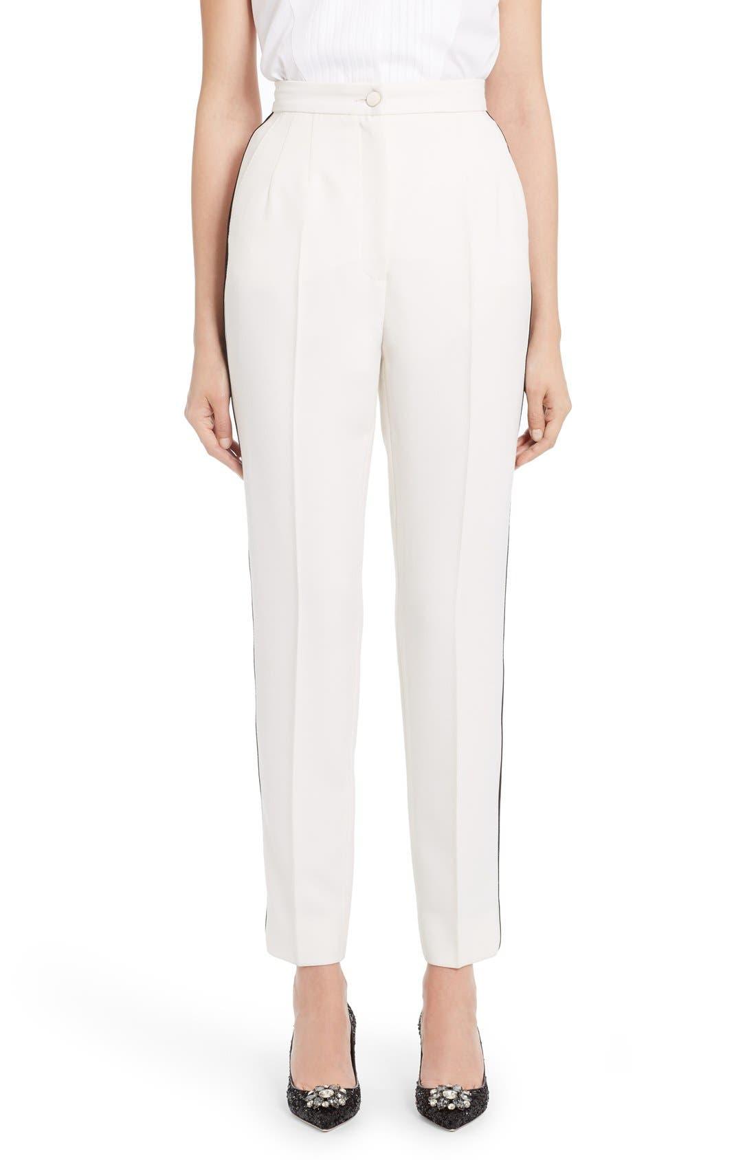 Alternate Image 1 Selected - Dolce&Gabbana Crop Tuxedo Pants