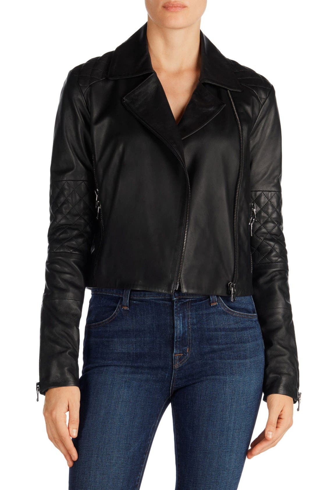 Main Image - J Brand Adaire Quilted Leather Jacket