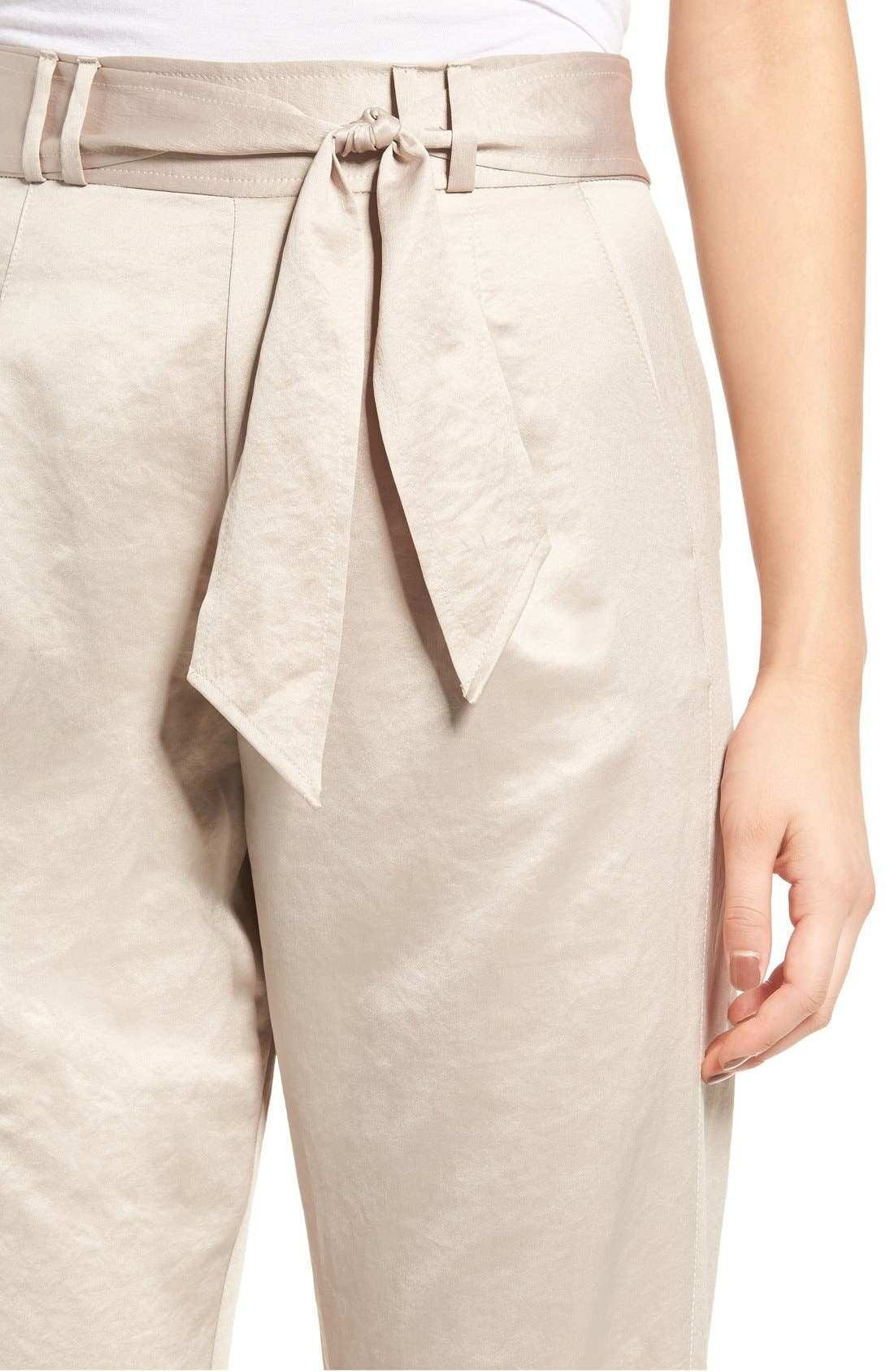 Alternate Image 5  - Leith Tie Waist Satin Pants