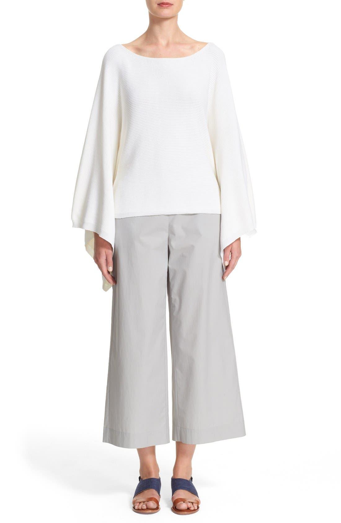 Alternate Image 7  - Lafayette 148 New York Crop Silk & Cotton Kimono Sweater