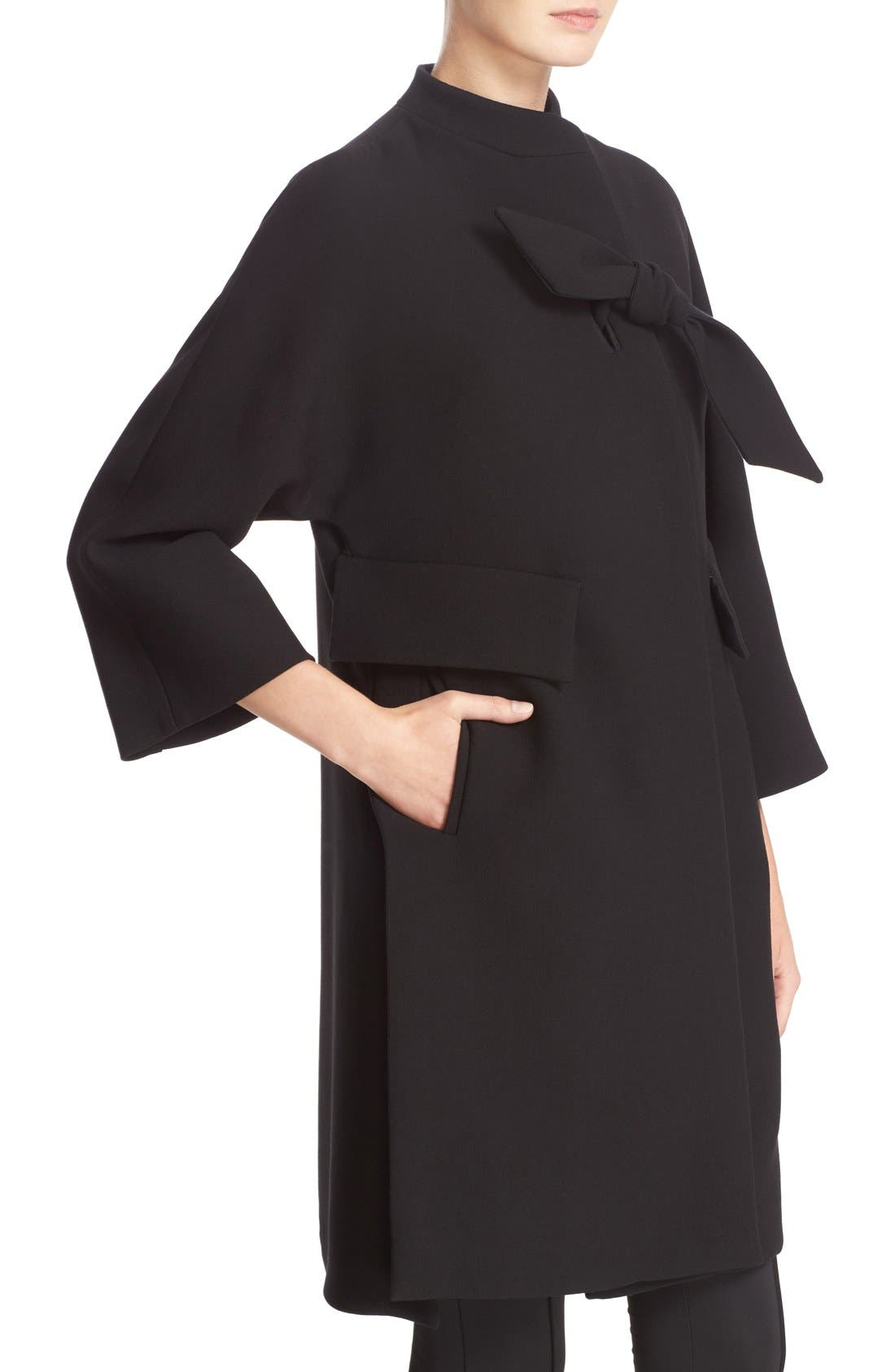 Alternate Image 6  - Armani Collezioni Double Crepe Caban Jacket
