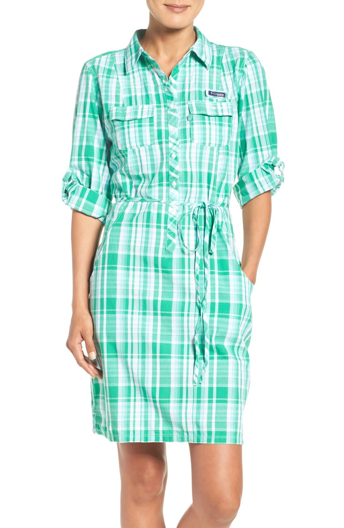 Alternate Image 1 Selected - Columbia 'Super Bonehead' Cotton Shirtdress