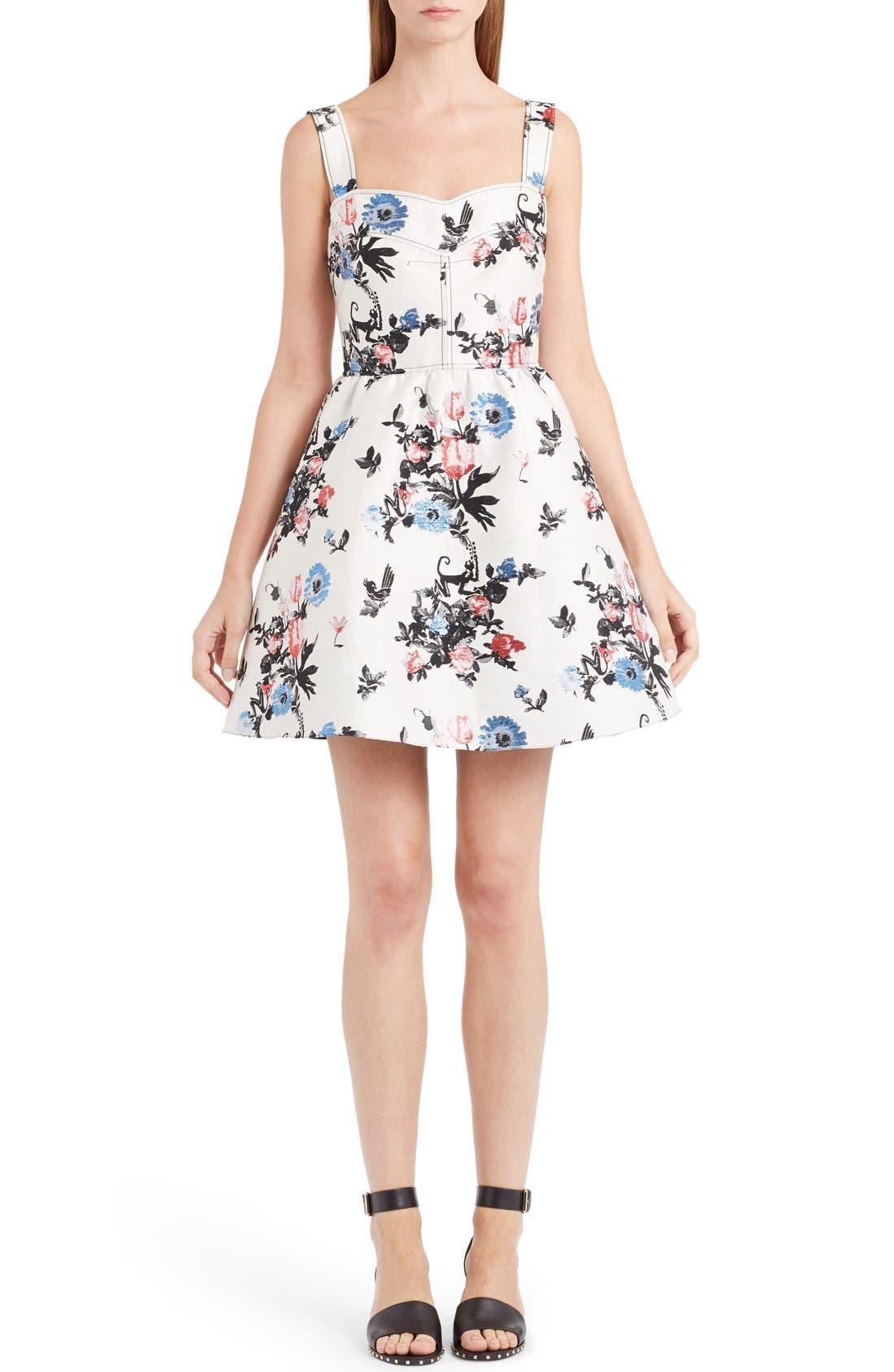 Main Image - Valentino Enchanted Jungle Brocade Dress