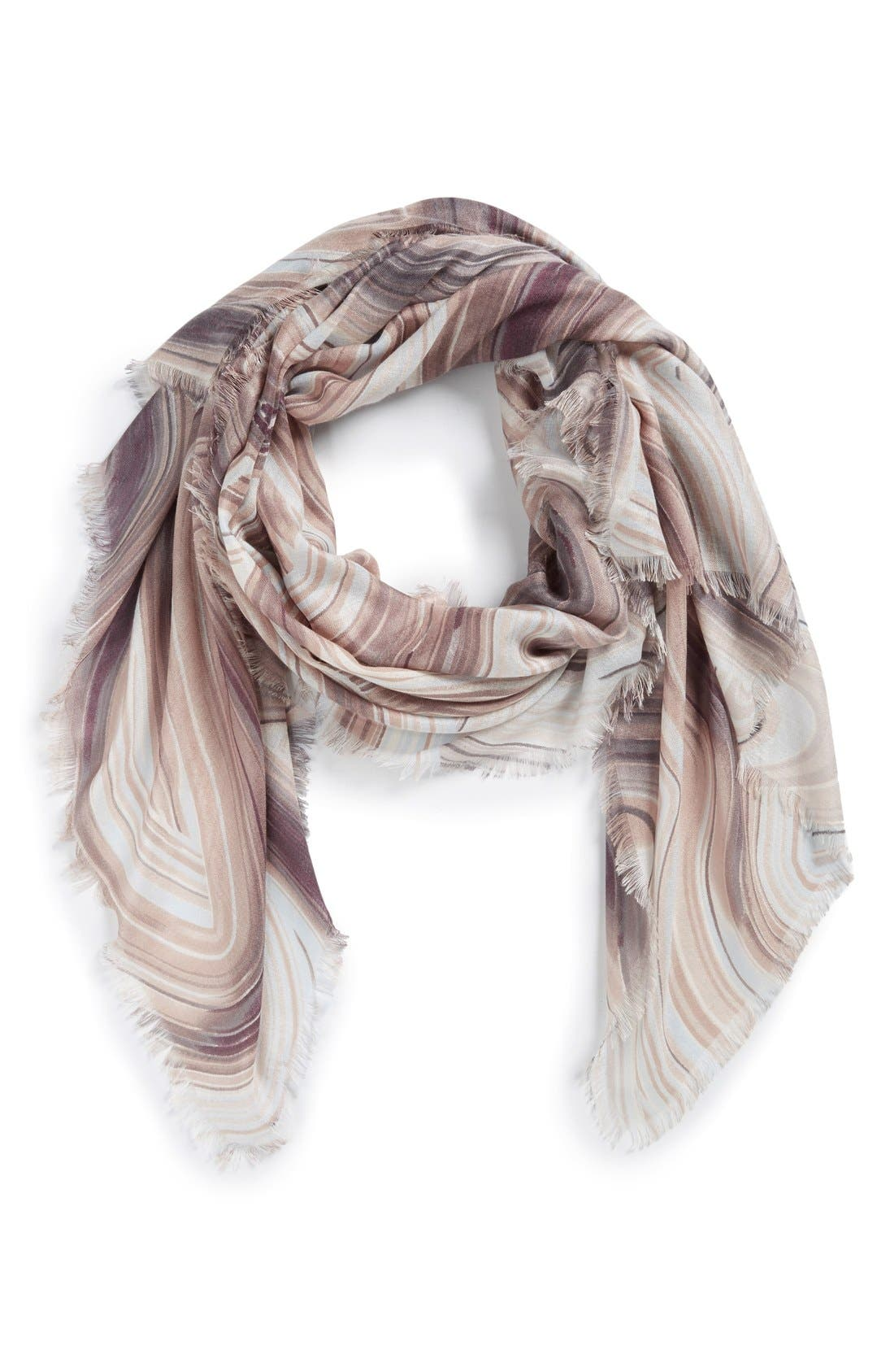 Main Image - Nordstrom Abstract Print Cashmere & Silk Scarf
