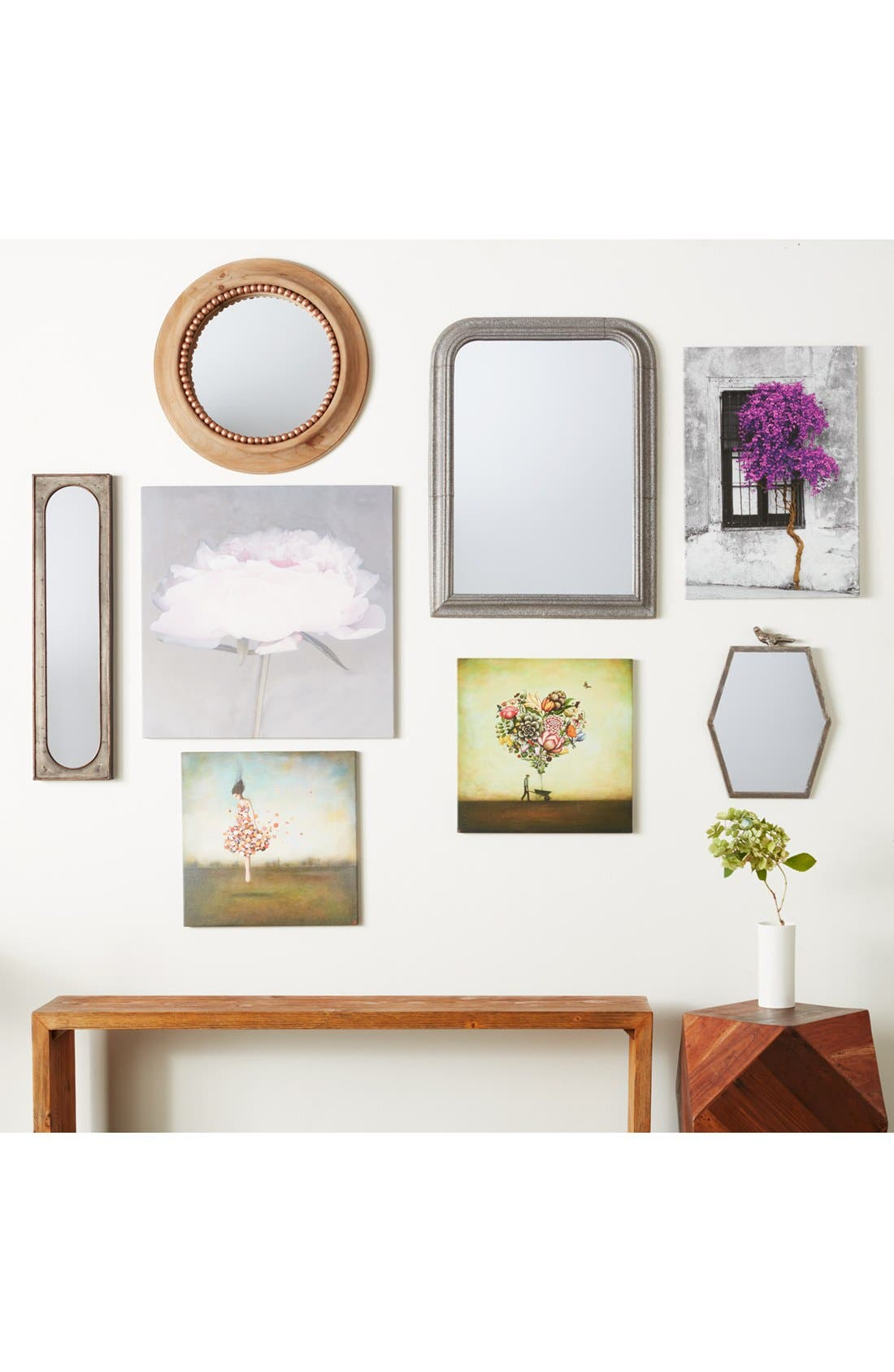 Alternate Image 2  - Foreside Round Beaded Wall Mirror