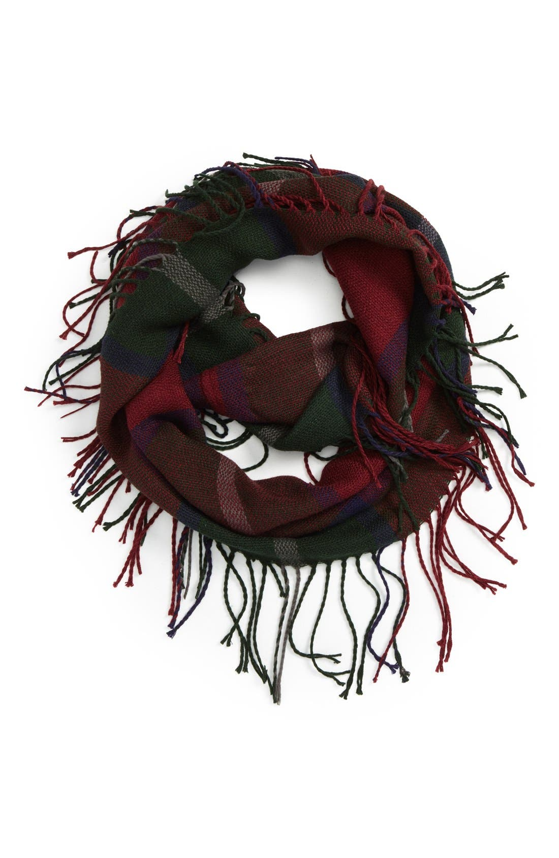 Main Image - David & Young Plaid Infinity Scarf