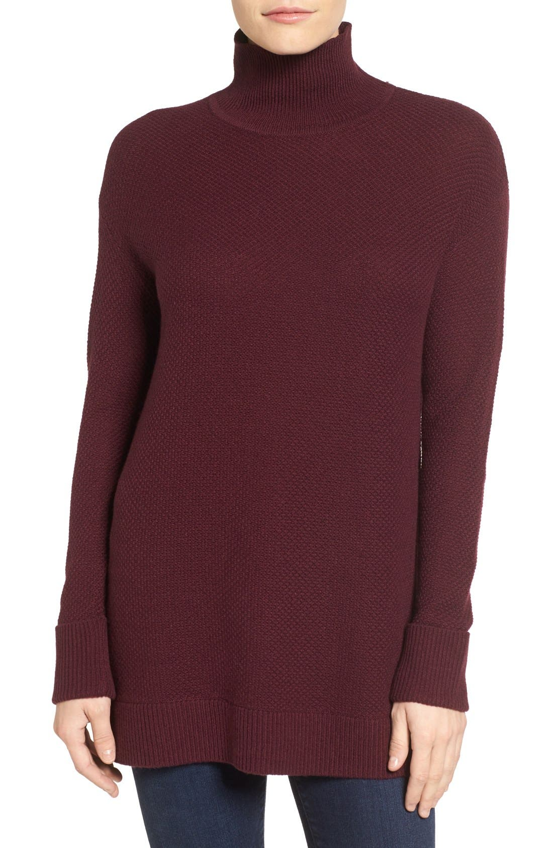 Alternate Image 1 Selected - Halogen® Mock Turtleneck Sweater (Regular & Petite)