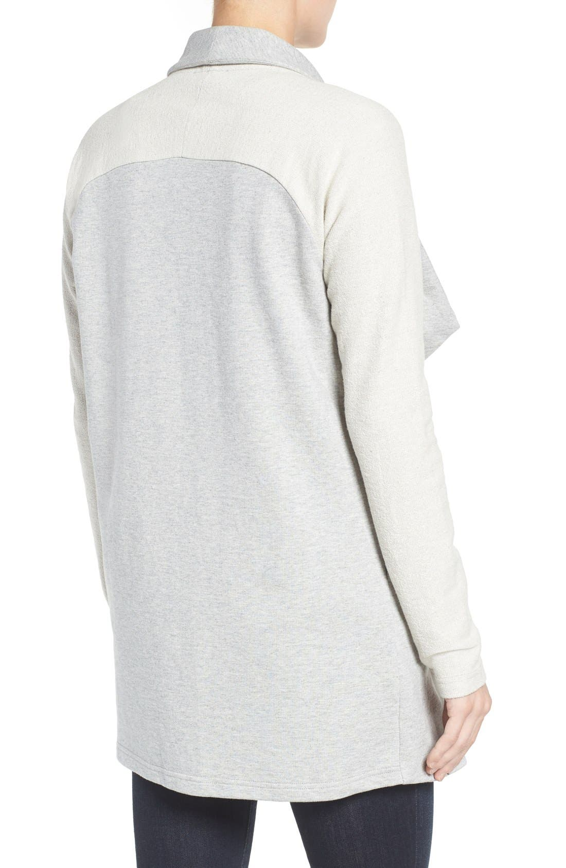Alternate Image 2  - Pleione Reverse Knit Terry Jacket
