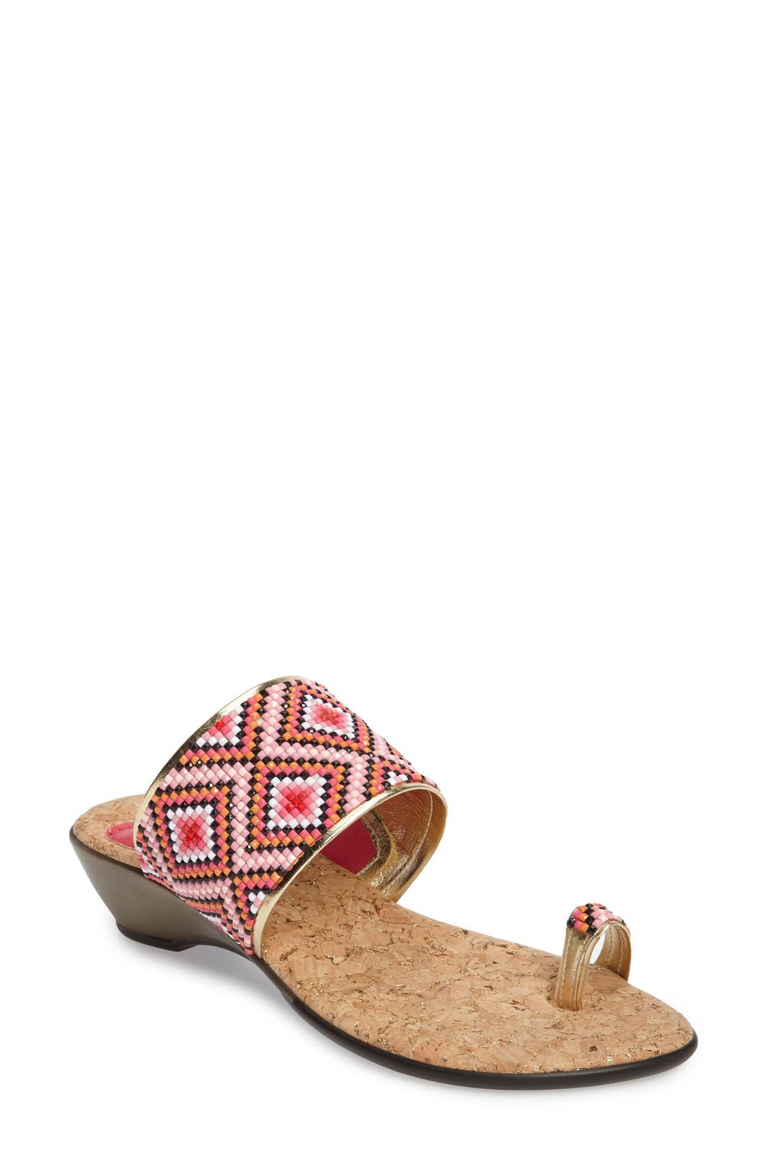 LOVE AND LIBERTY Sahalie Embellished Toe Ring Slide