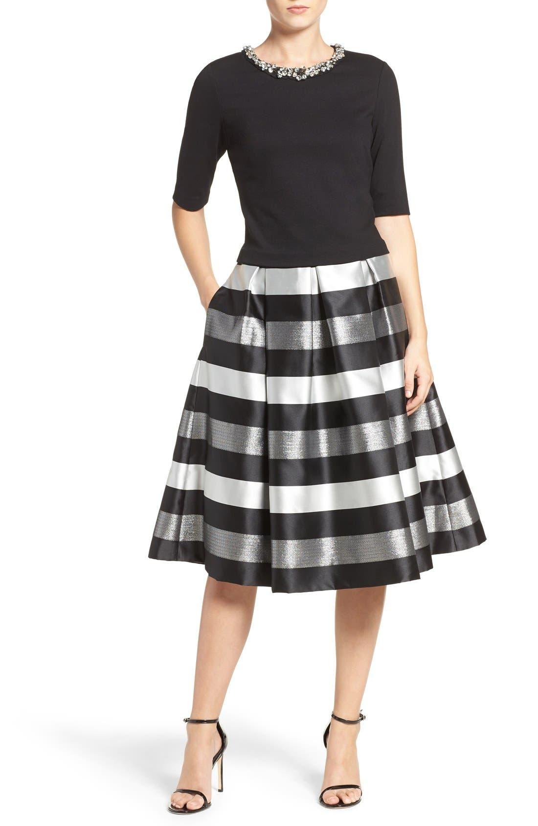 Alternate Image 7  - Eliza J Jacquard Midi Skirt