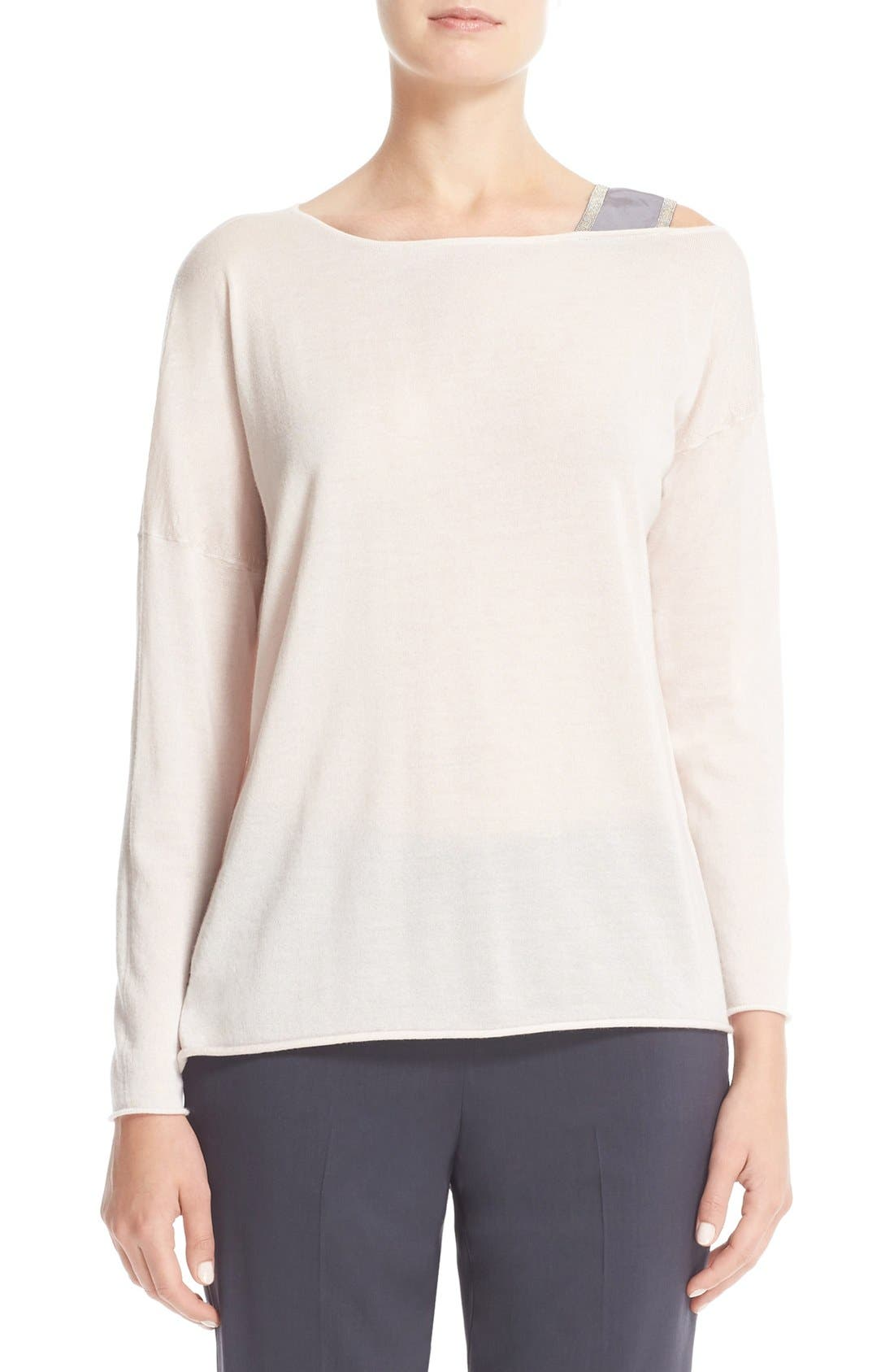 FABIANA FILIPPI Beaded Cashmere & Silk Sweater