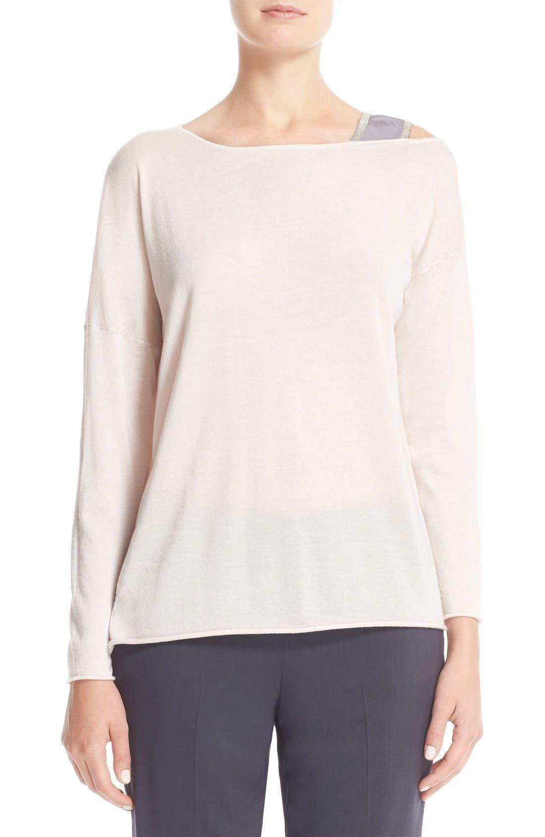 FABIANA FILIPPI Beaded Cashmere & Silk Sweater
