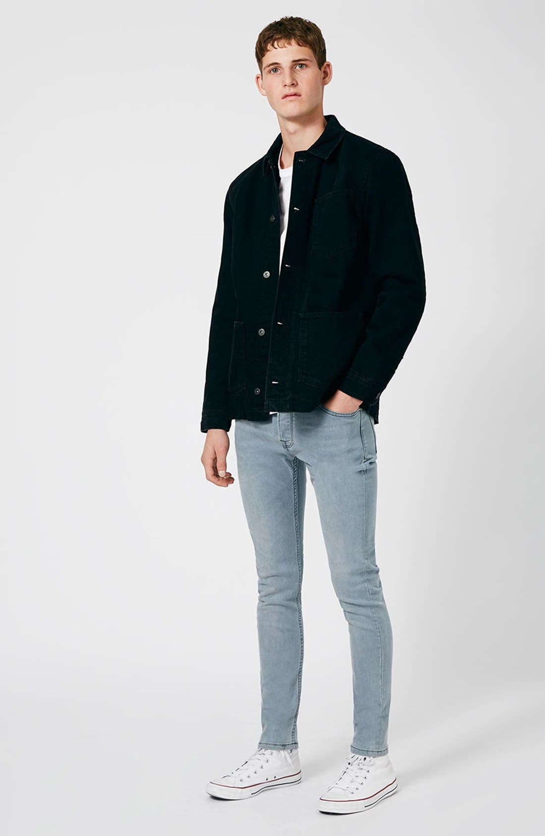 Alternate Image 2  - Topman Stretch Skinny Fit Jeans