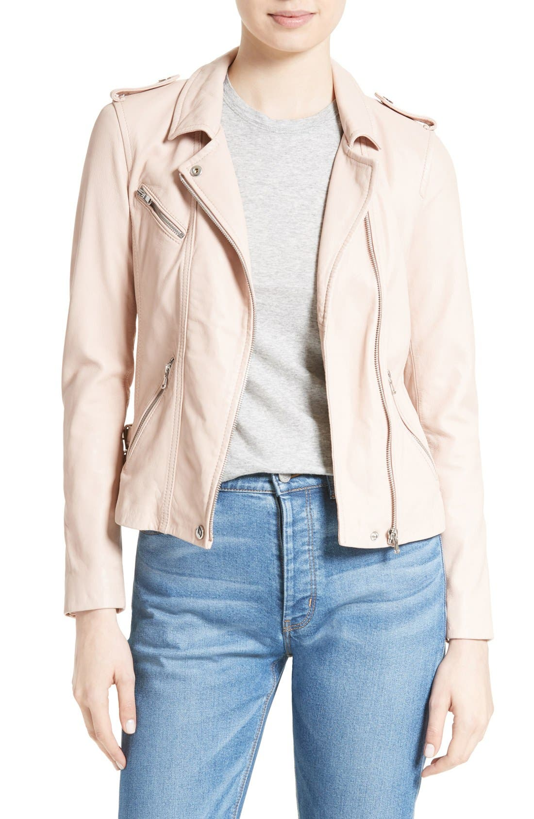 Rebecca Taylor Washed Leather Jacket