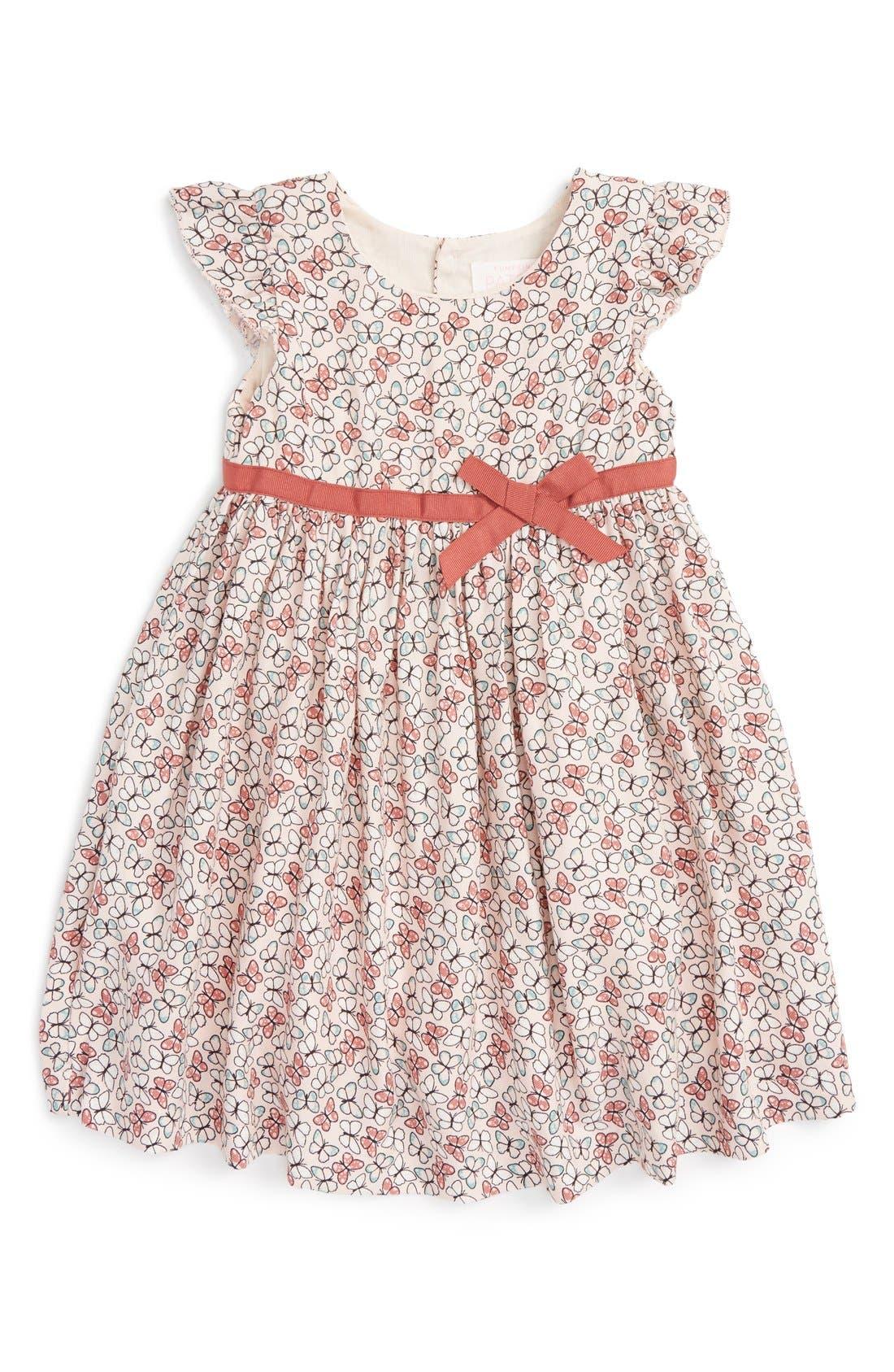 Pumpkin Patch Butterfly Print Dress (Baby Girls)