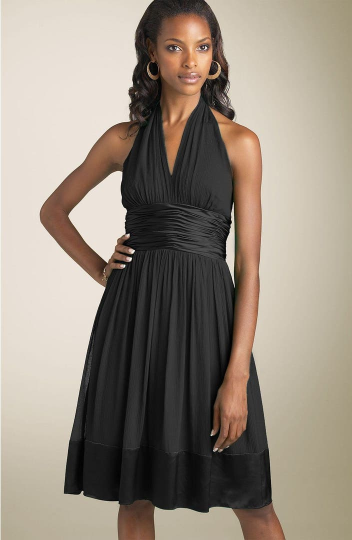 Maggy London Silk Chiffon Halter Dress Nordstrom