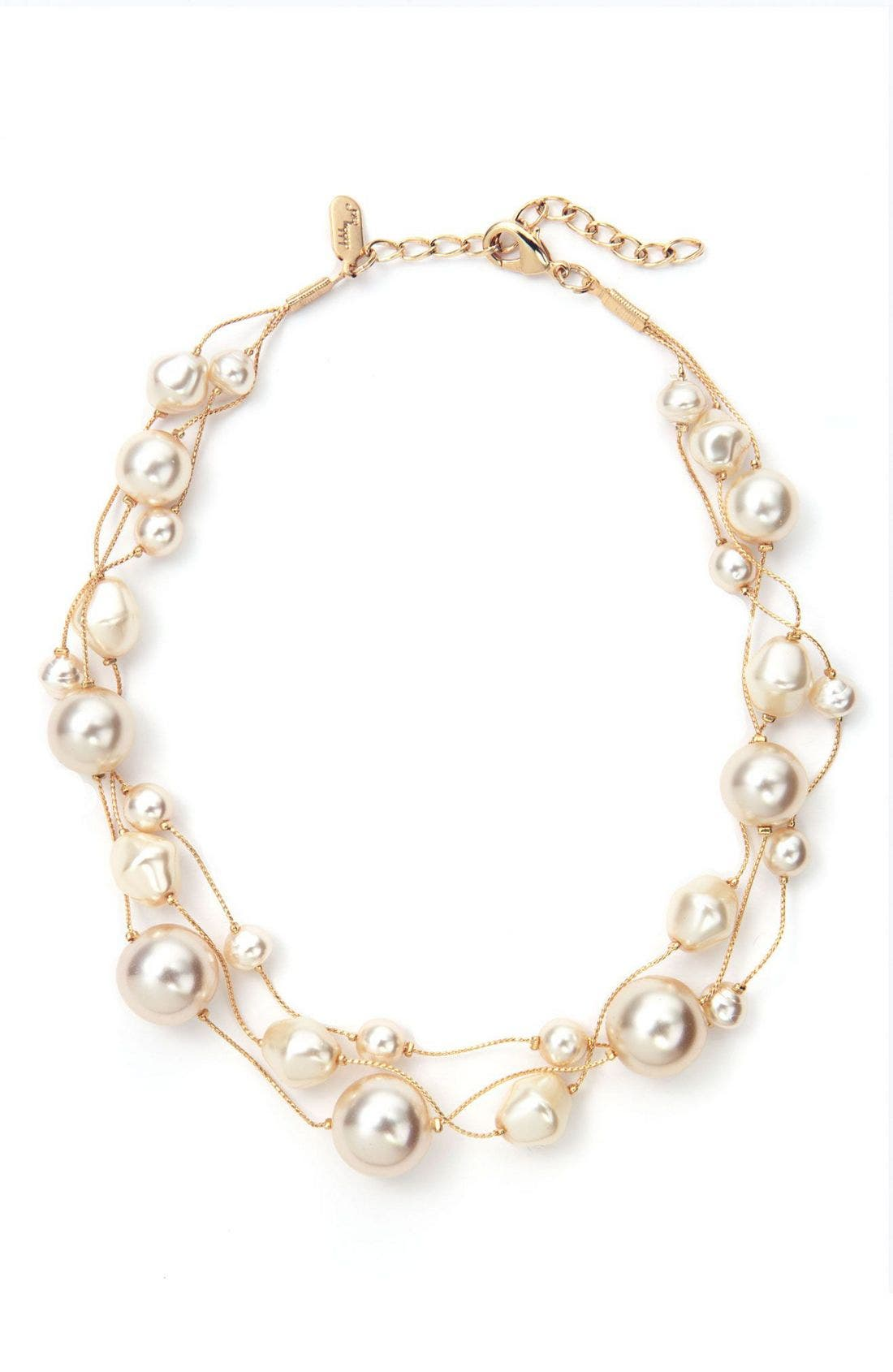 Alternate Image 1 Selected - Dabby Reid Three Strand Pearl Necklace