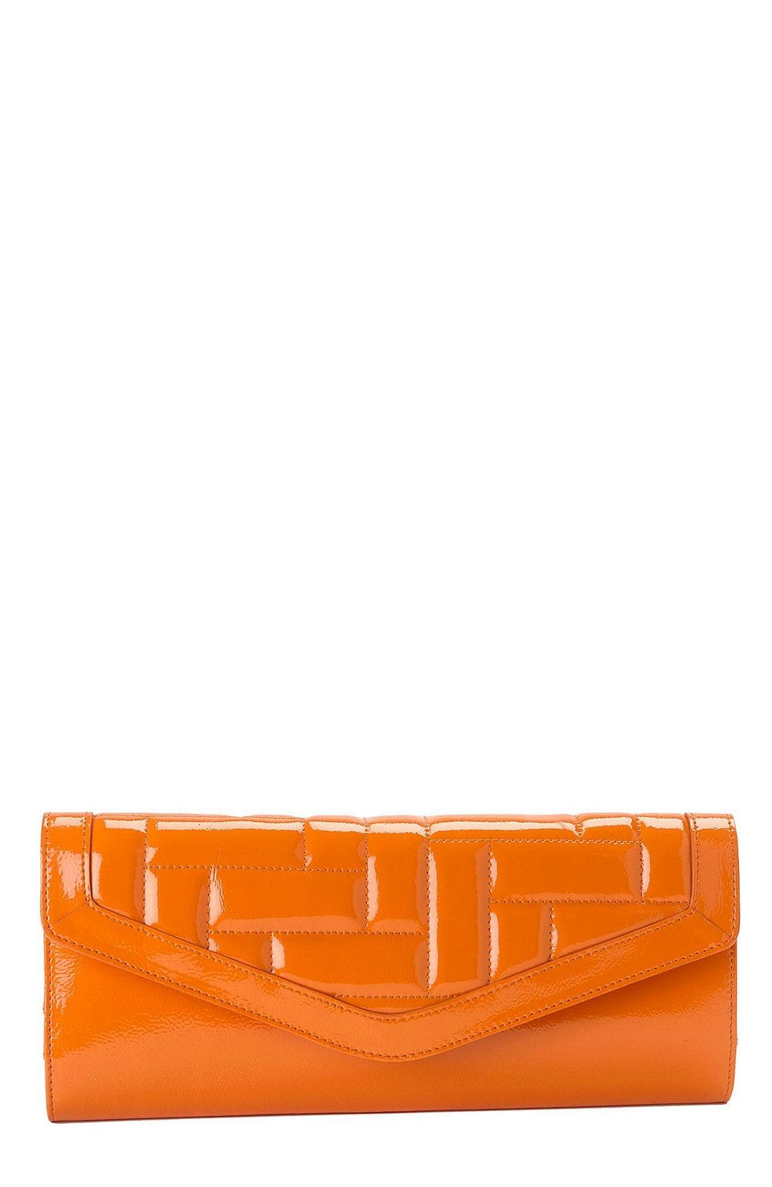 Main Image - Hobo Quilted Patent Leather Clutch