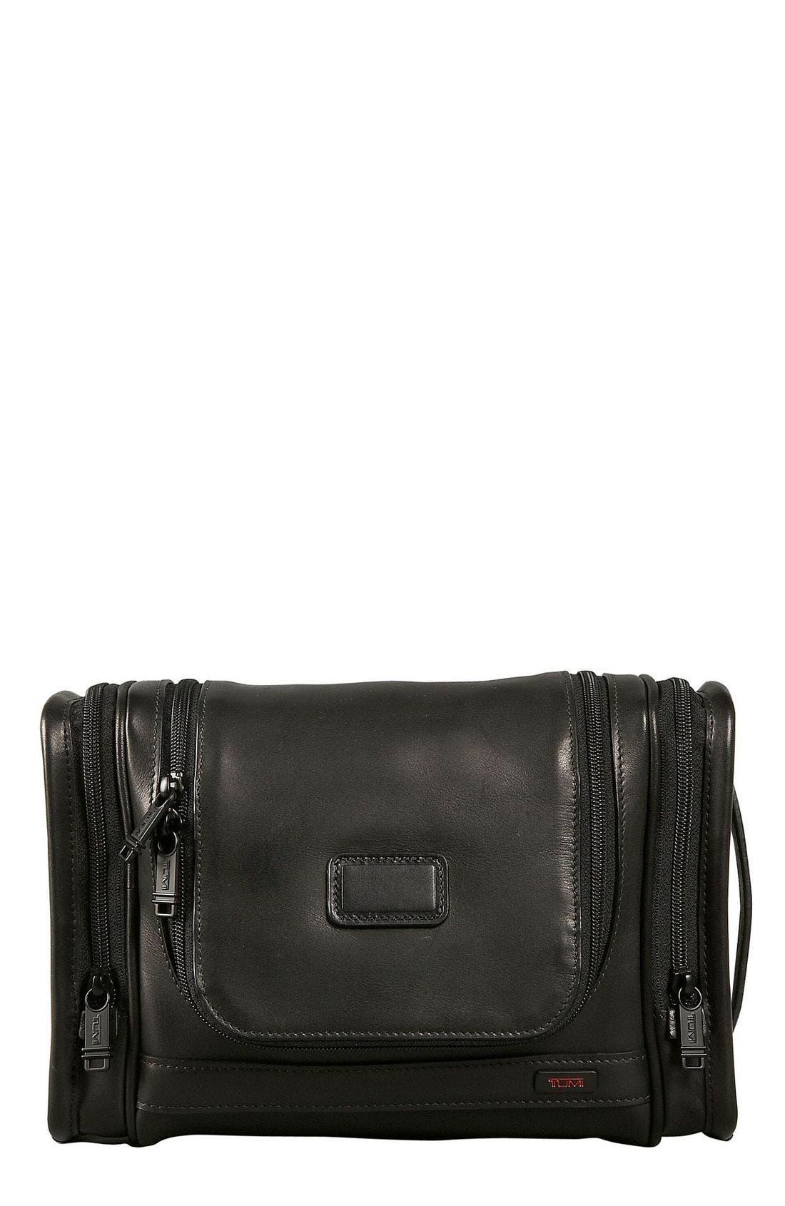 Alternate Image 1 Selected - Tumi 'Alpha' Hanging Leather Travel Kit