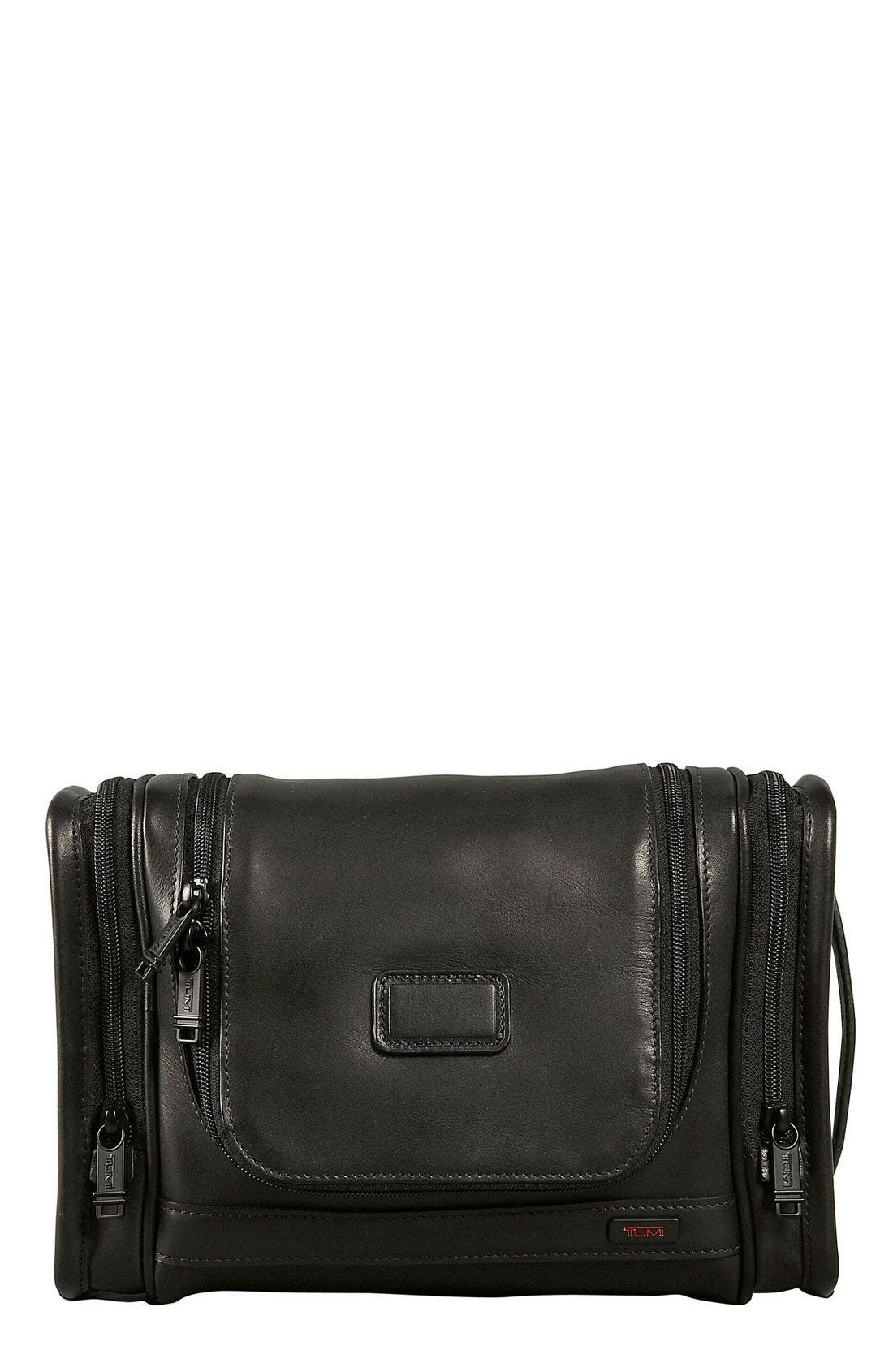 Main Image - Tumi 'Alpha' Hanging Leather Travel Kit