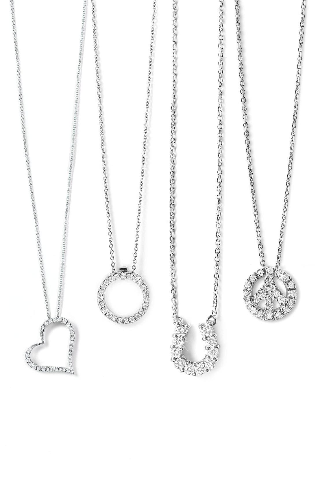 Alternate Image 3  - Roberto Coin 'Tiny Treasures' Peace Sign Necklace