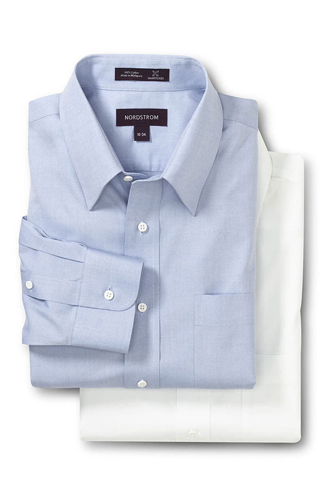 Alternate Image 2  - Nordstrom Smartcare™ Classic Fit Pinpoint Dress Shirt