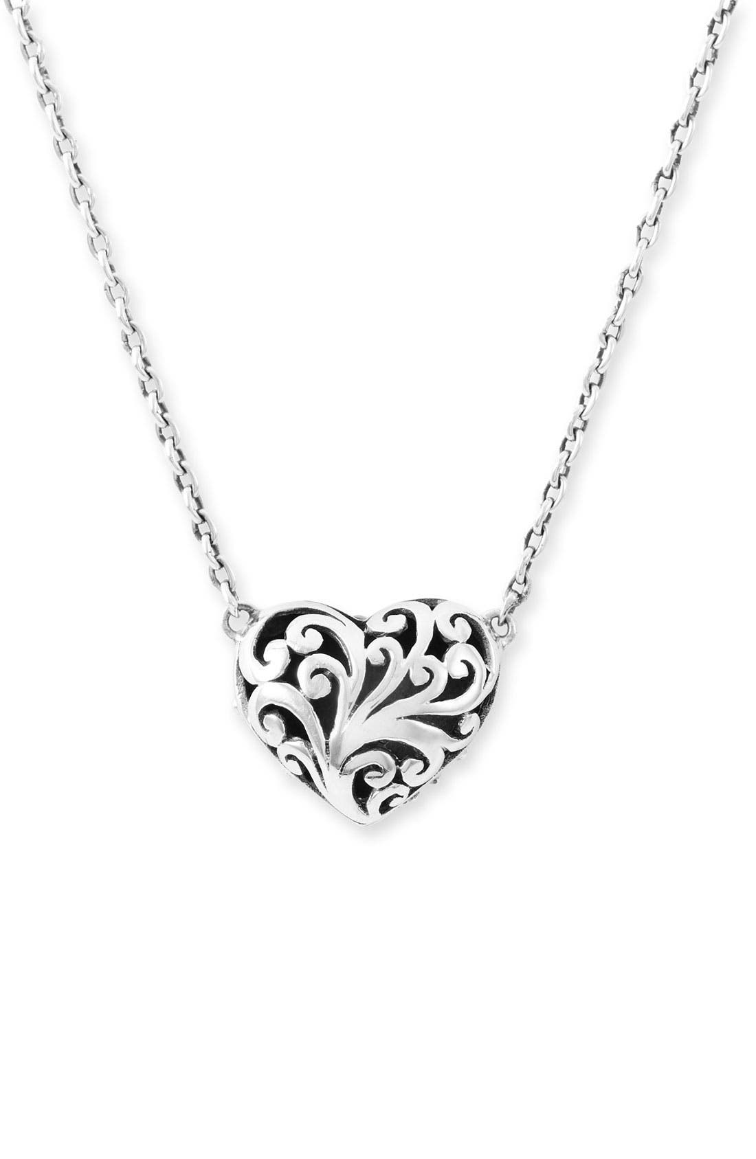 Main Image - Lois Hill Reversible Puff Heart Pendant Necklace