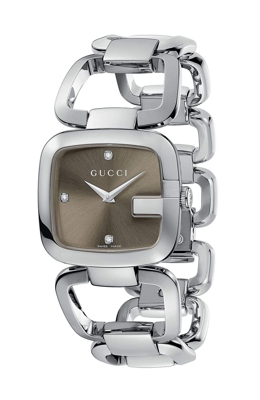 Alternate Image 1 Selected - Gucci Bracelet Watch, 32mm x 30mm