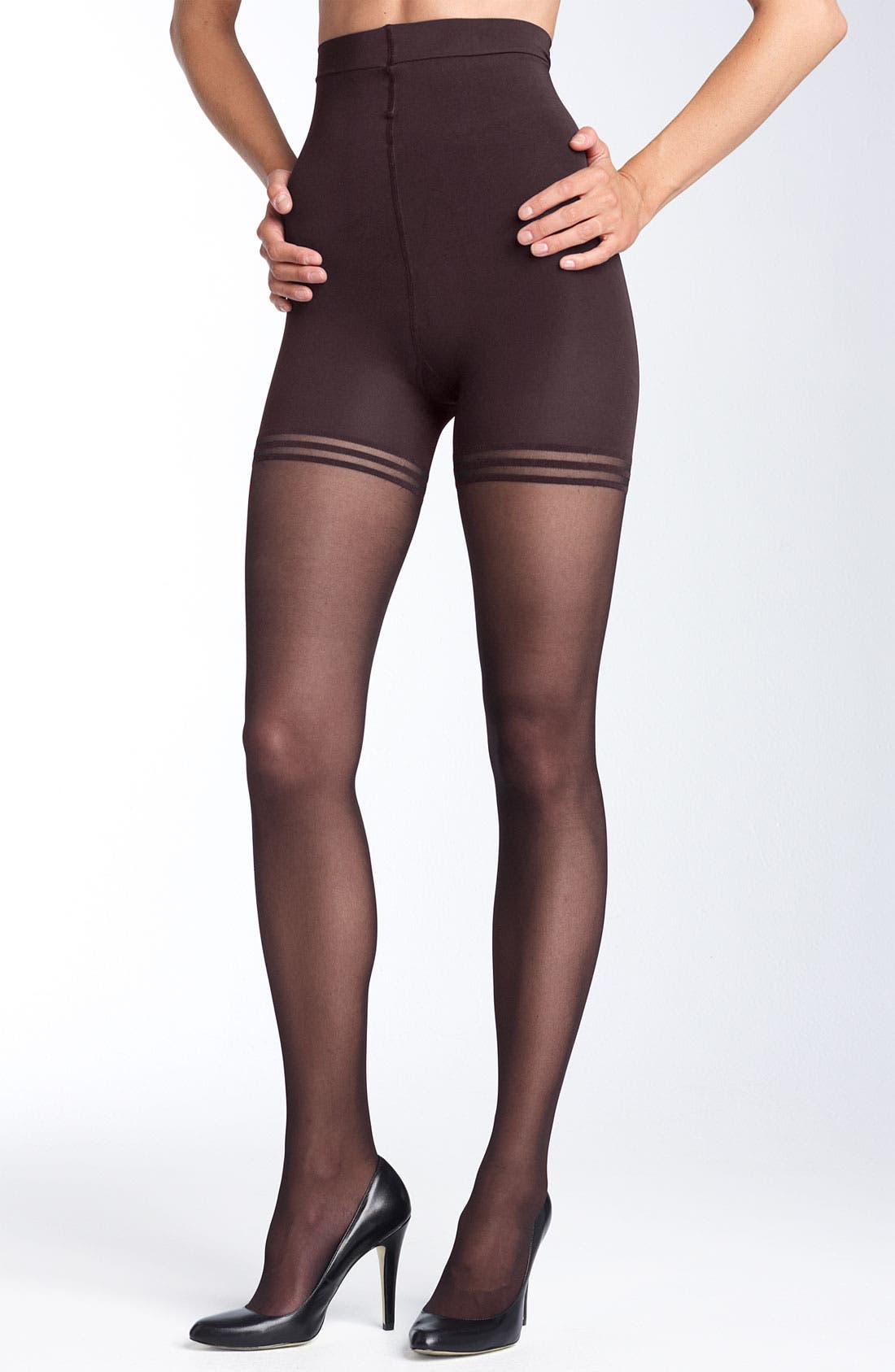 Alternate Image 1 Selected - Donna Karan 'Sheer Satin Ultimate Toner' Pantyhose