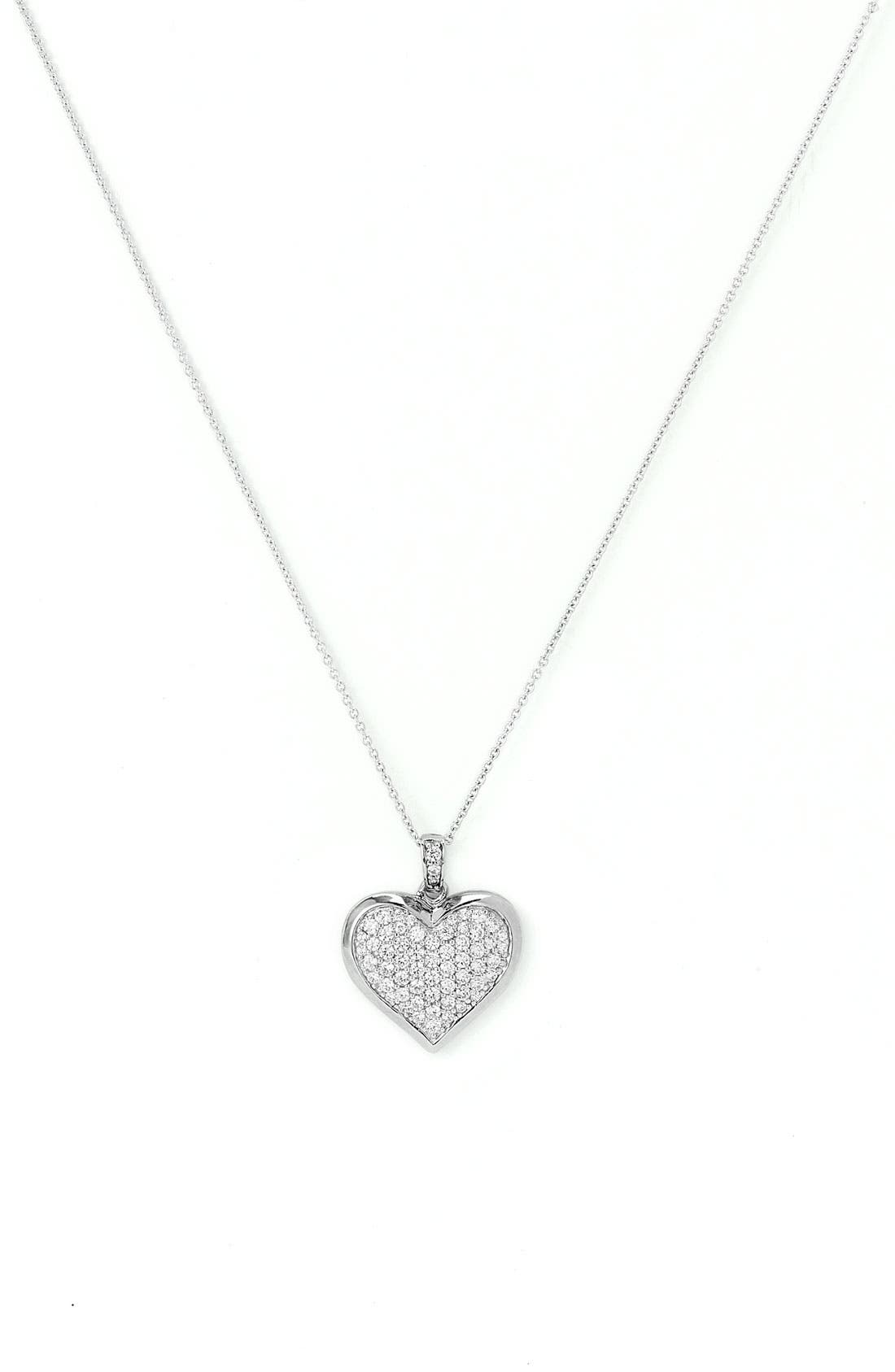 Alternate Image 1 Selected - Nordstrom Cubic Zirconia Locket Necklace