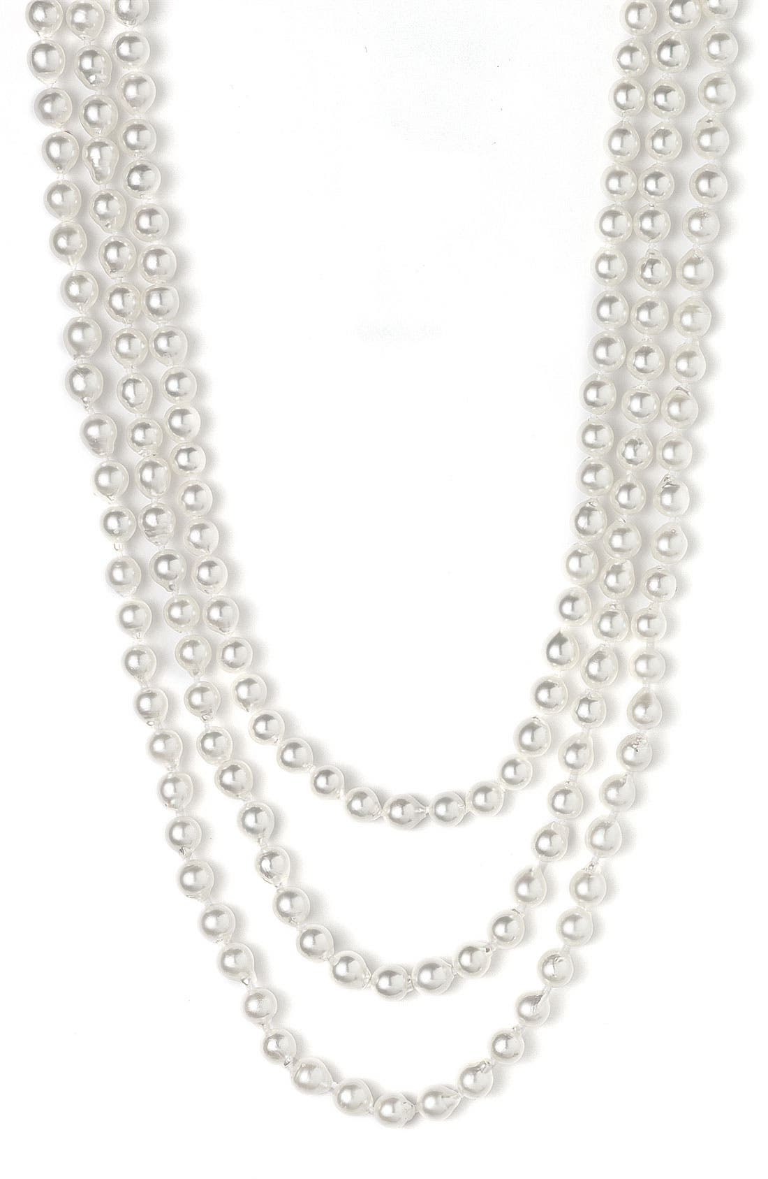 Alternate Image 1 Selected - Mastoloni Akoya 7mm Pearl Extra Long Strand Necklace